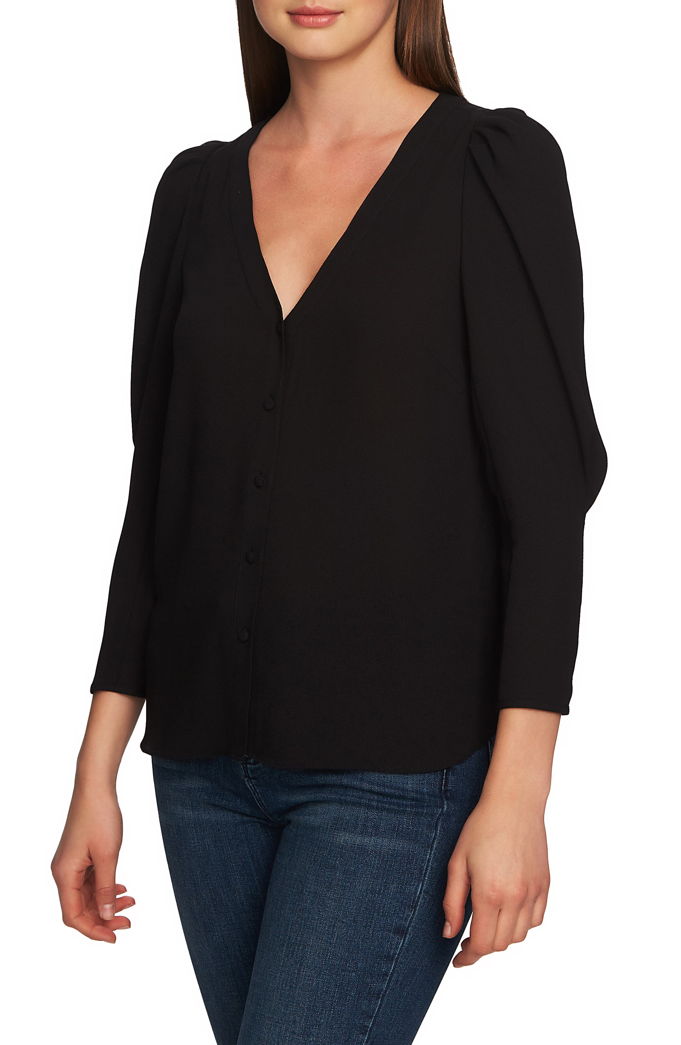 1.STATE, Puff Sleeve Blouse, Main thumbnail 1, color, BERRY CHARM