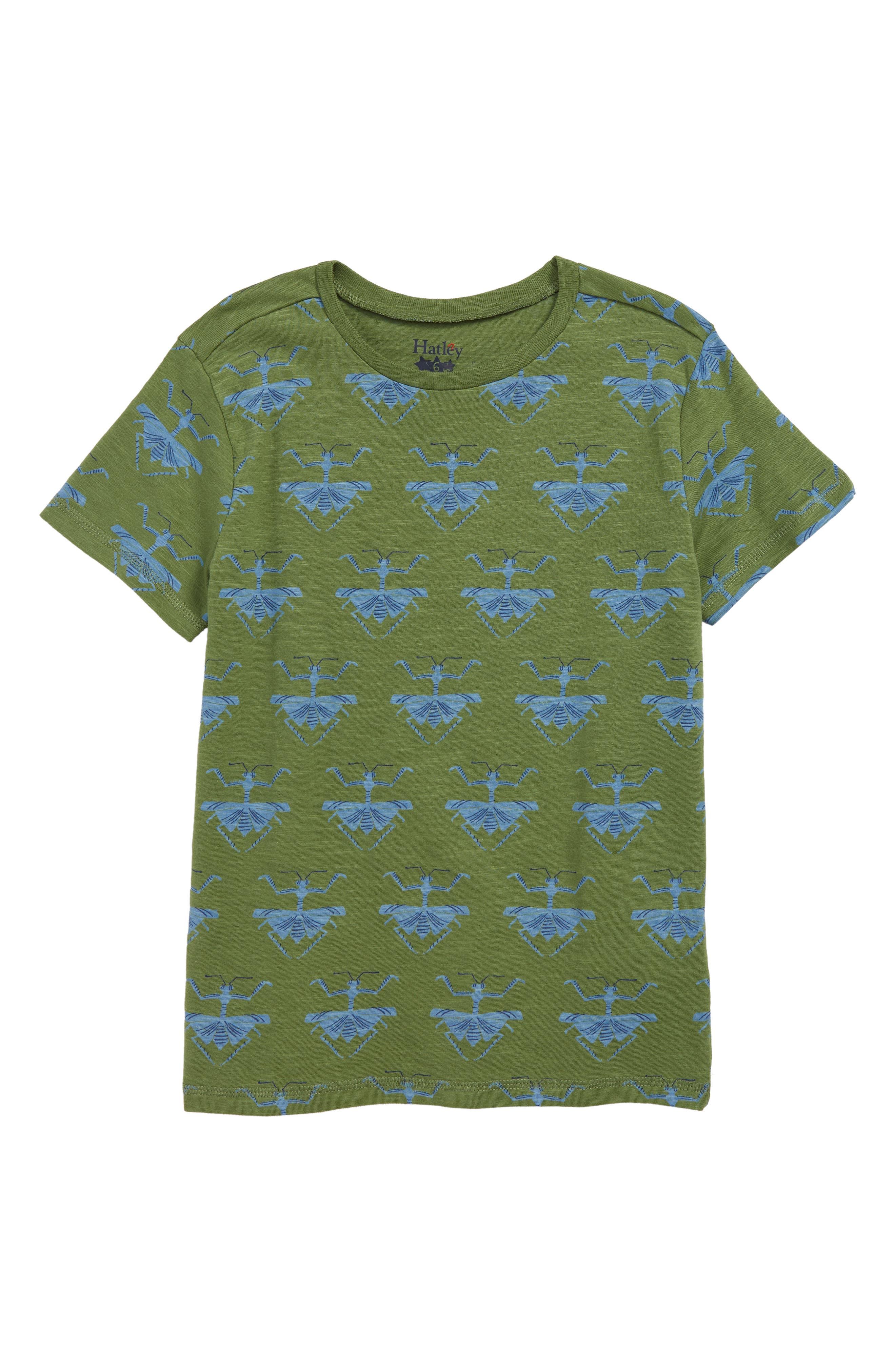 HATLEY, Mantises Graphic T-Shirt, Main thumbnail 1, color, GREEN