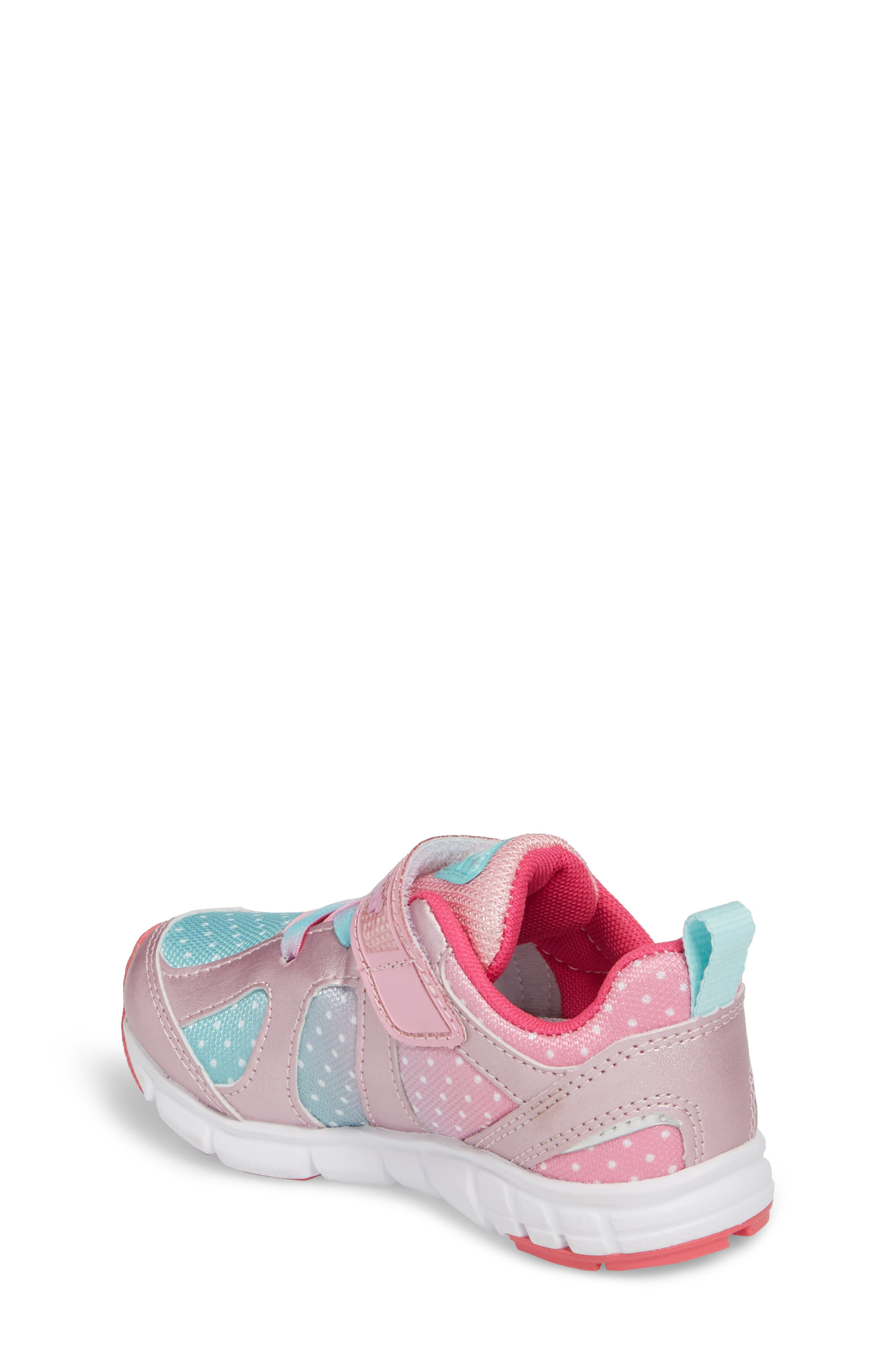 TSUKIHOSHI, Rainbow Washable Sneaker, Alternate thumbnail 2, color, ROSE/ MINT