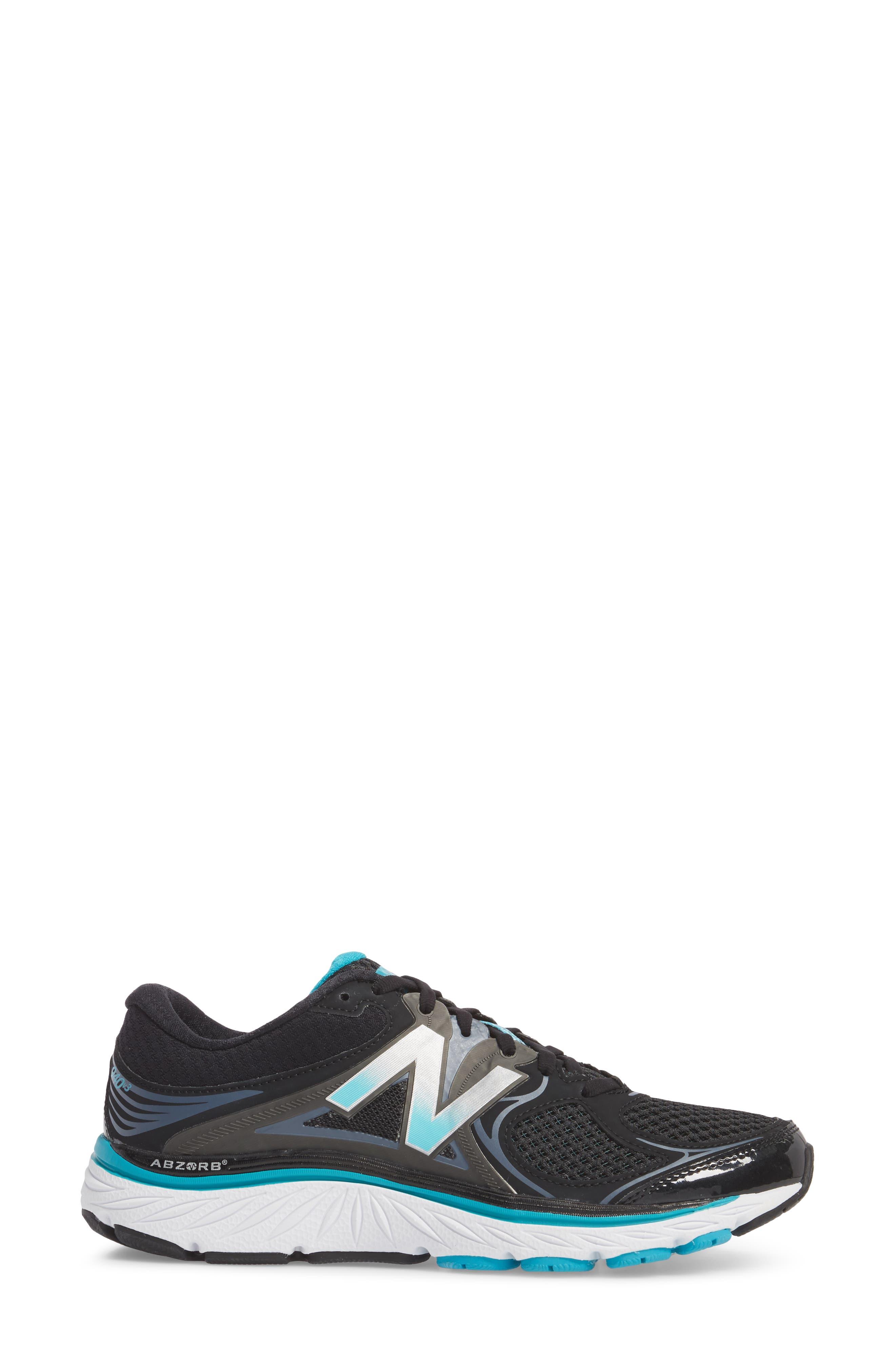 NEW BALANCE, 940v3 Running Shoe, Alternate thumbnail 3, color, BLACK/ BLUE