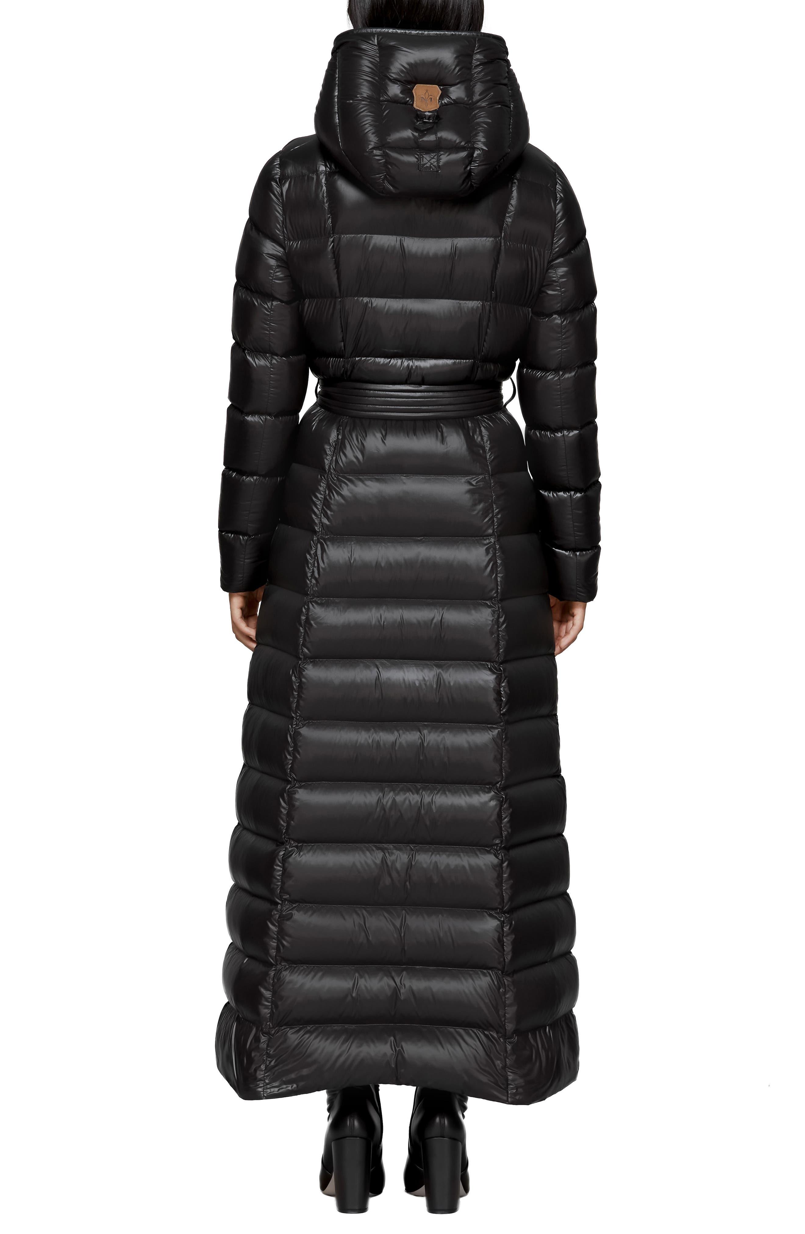 MACKAGE, Long Water Resistant Down Puffer Coat, Alternate thumbnail 2, color, BLACK