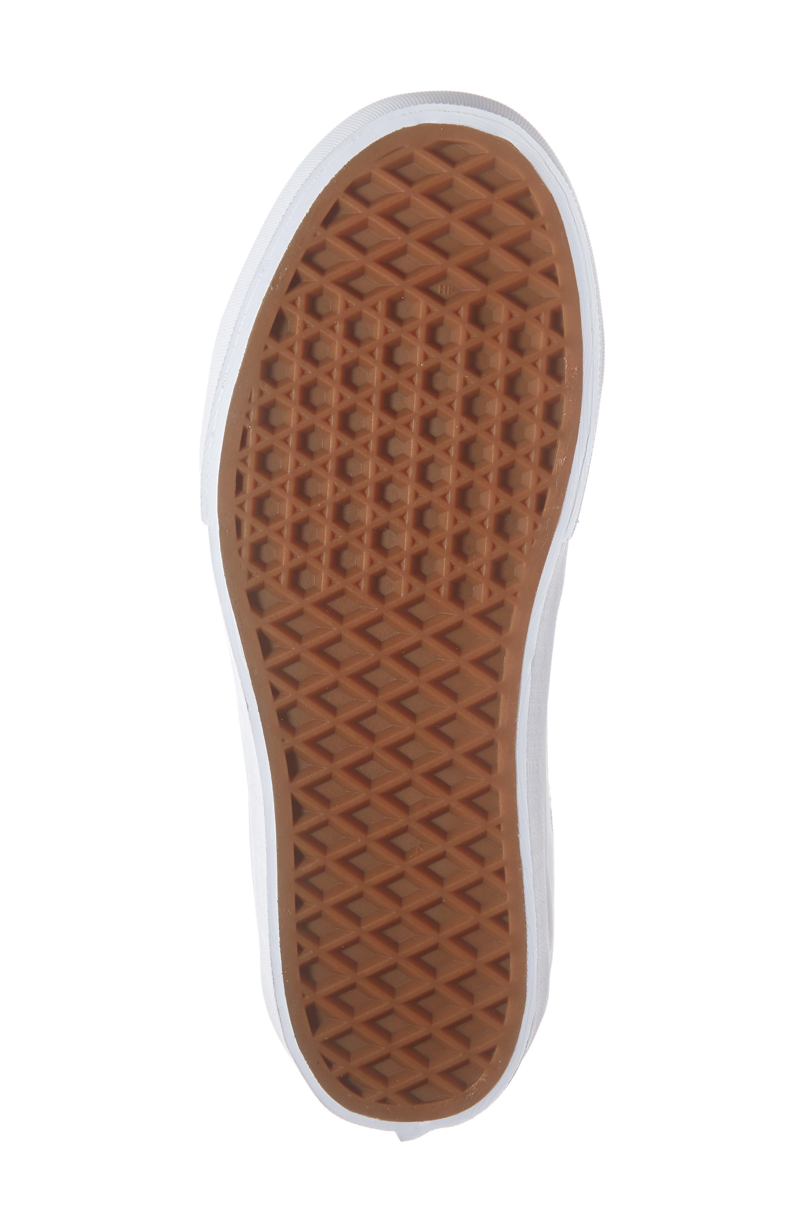 VANS, Sk8-Hi Platform Sneaker, Alternate thumbnail 6, color, TRUE WHITE/ TRUE WHITE