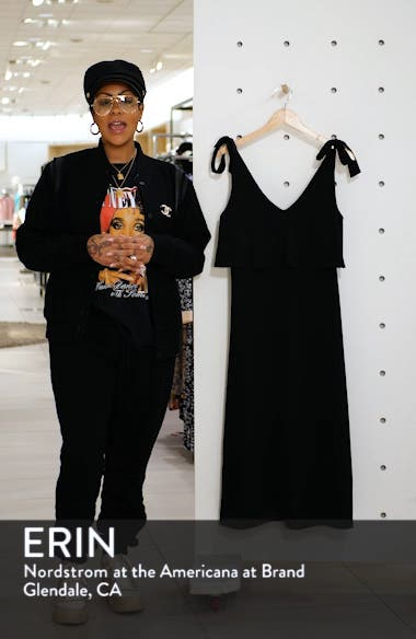 Tie Shoulder Popover Midi Dress, sales video thumbnail