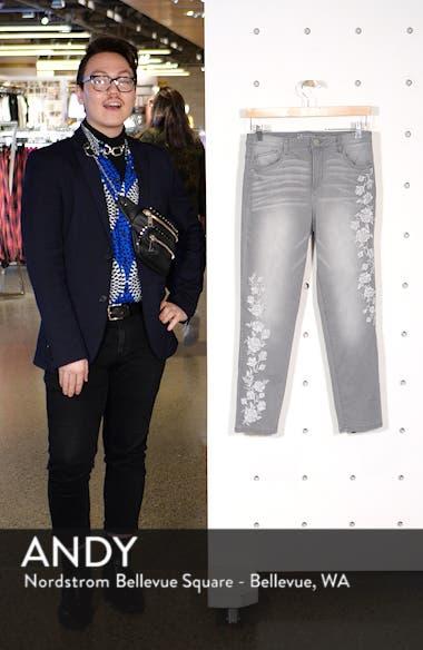 High Waist Slim Crop Straight Leg Jeans, sales video thumbnail