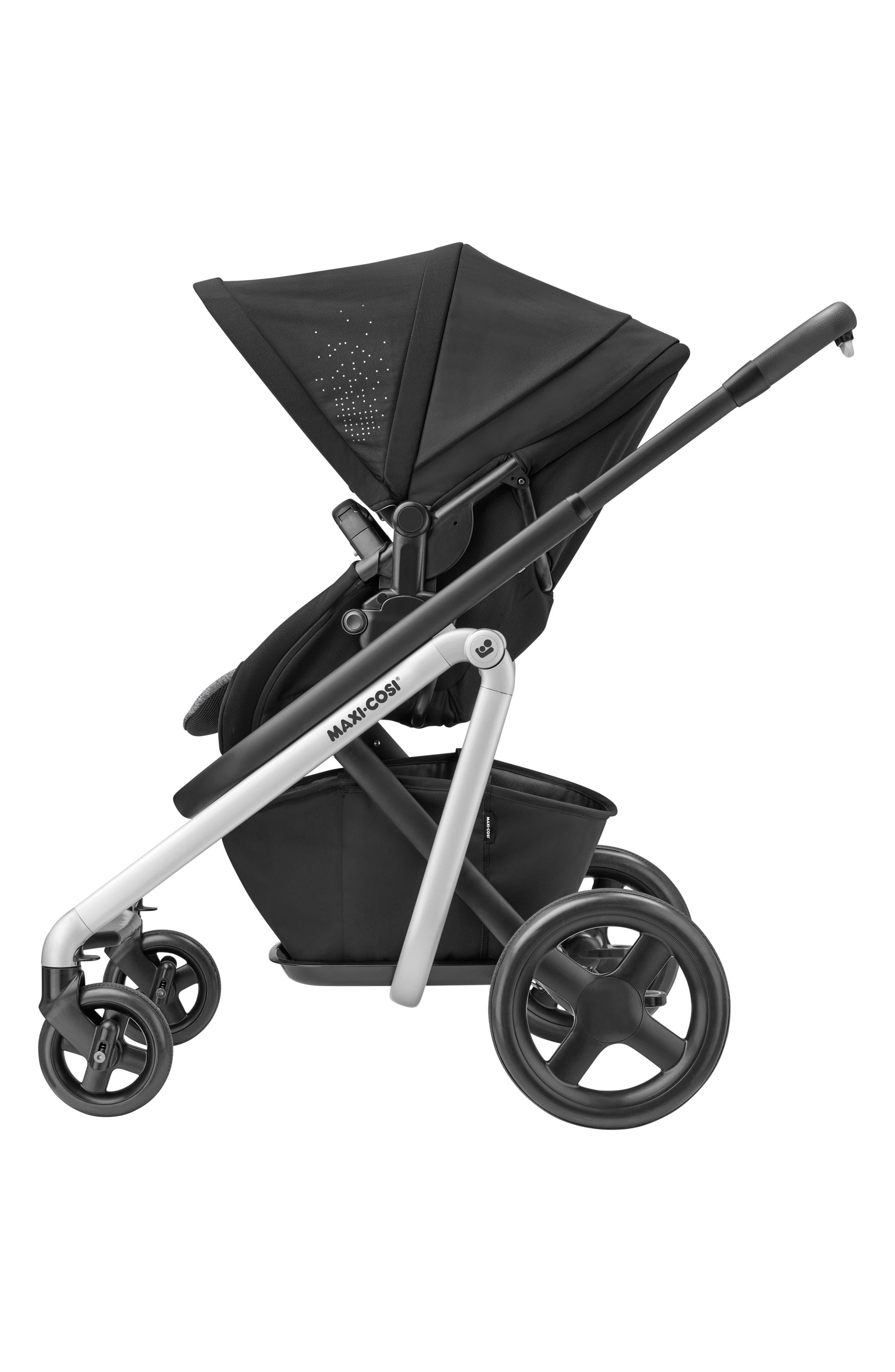 MAXI-COSI<SUP>®</SUP>, Lila Modular Stroller, Alternate thumbnail 3, color, NOMAD BLACK