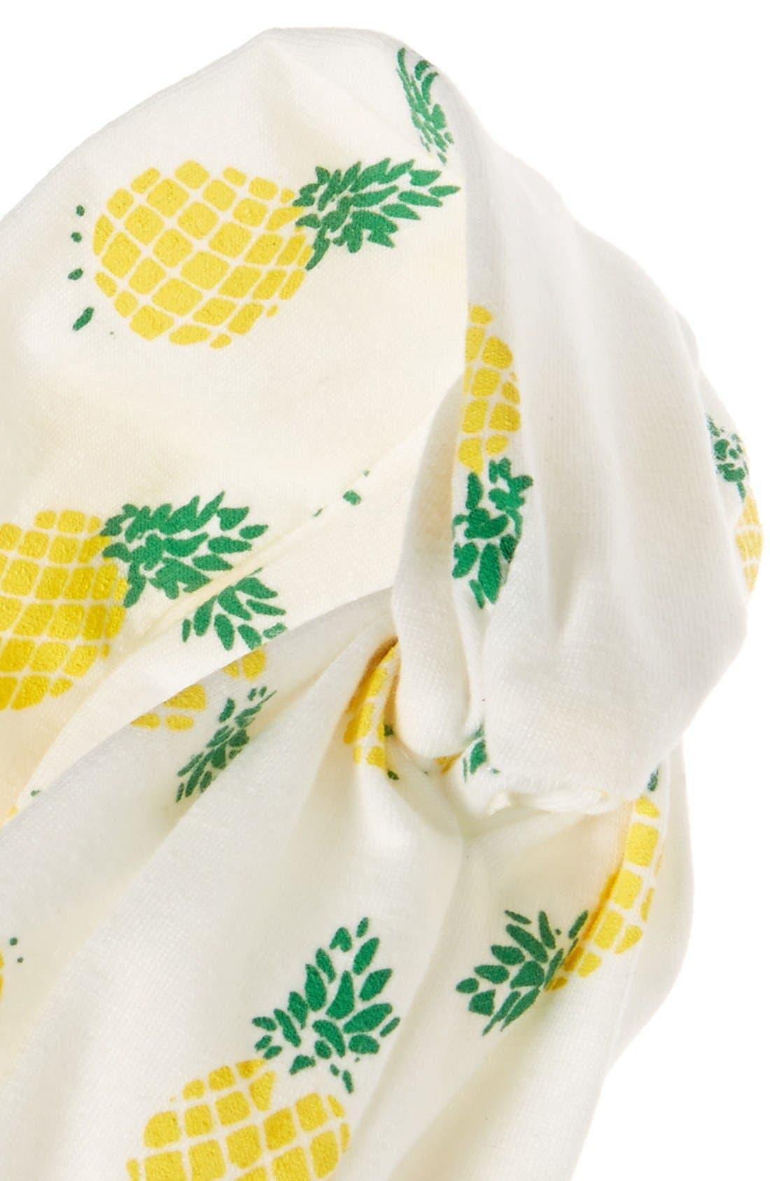 LULU, Pineapple Print Head Wrap, Alternate thumbnail 2, color, 100