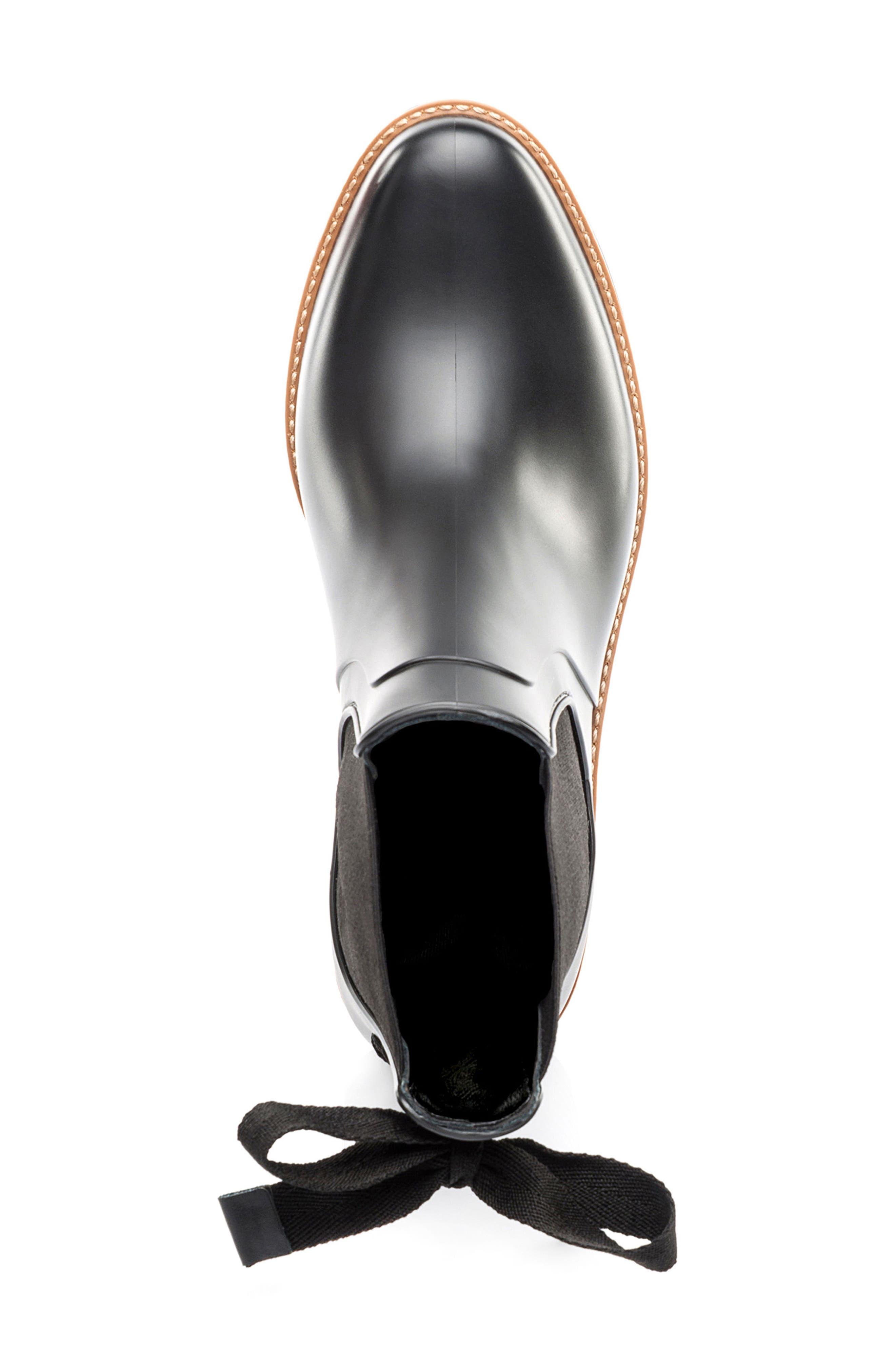 BERNARDO, Paxton Waterproof Rain Boot, Alternate thumbnail 5, color, BLACK