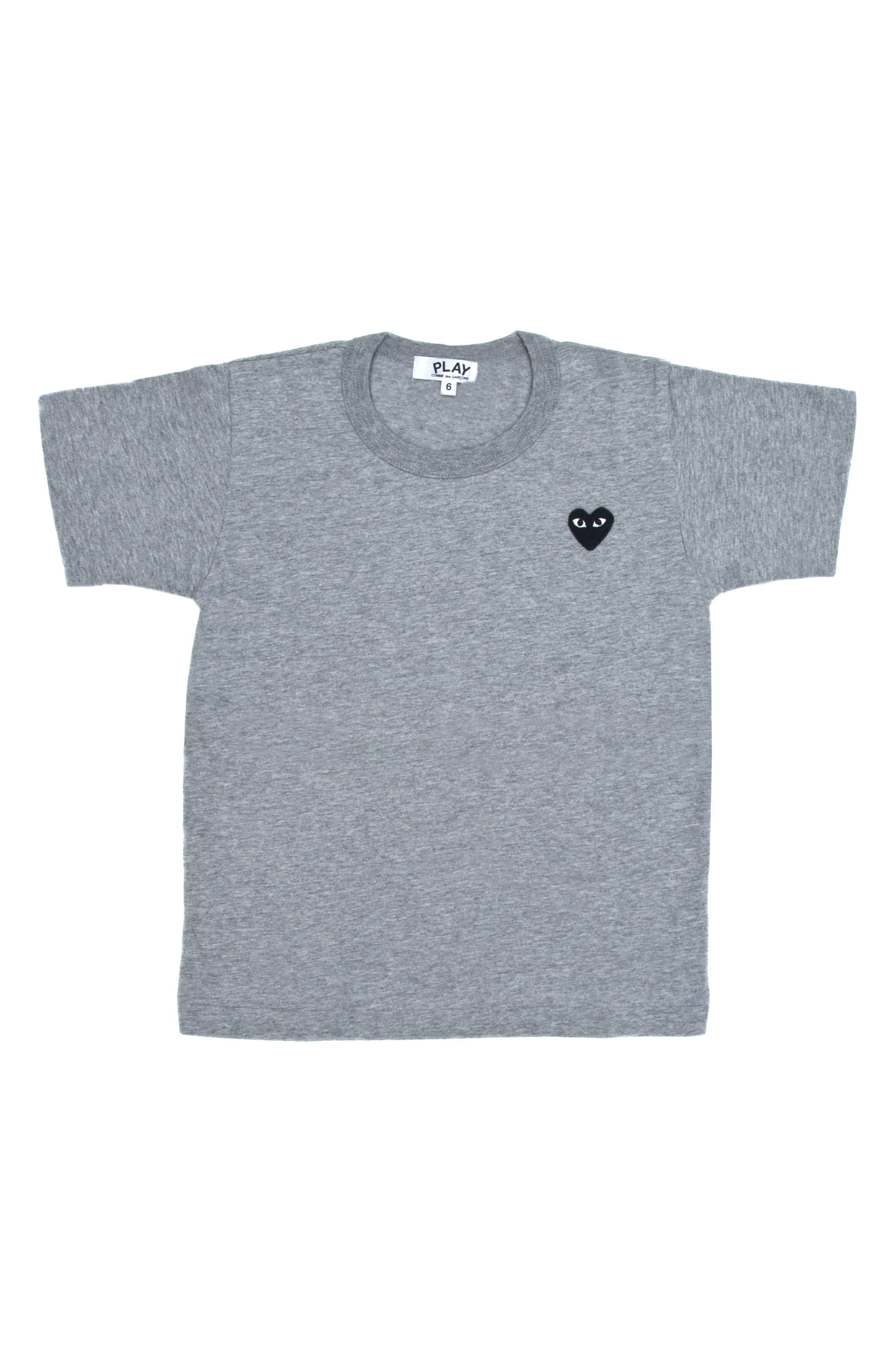 COMME DES GARÇONS PLAY Little Black Heart T-Shirt, Main, color, GREY