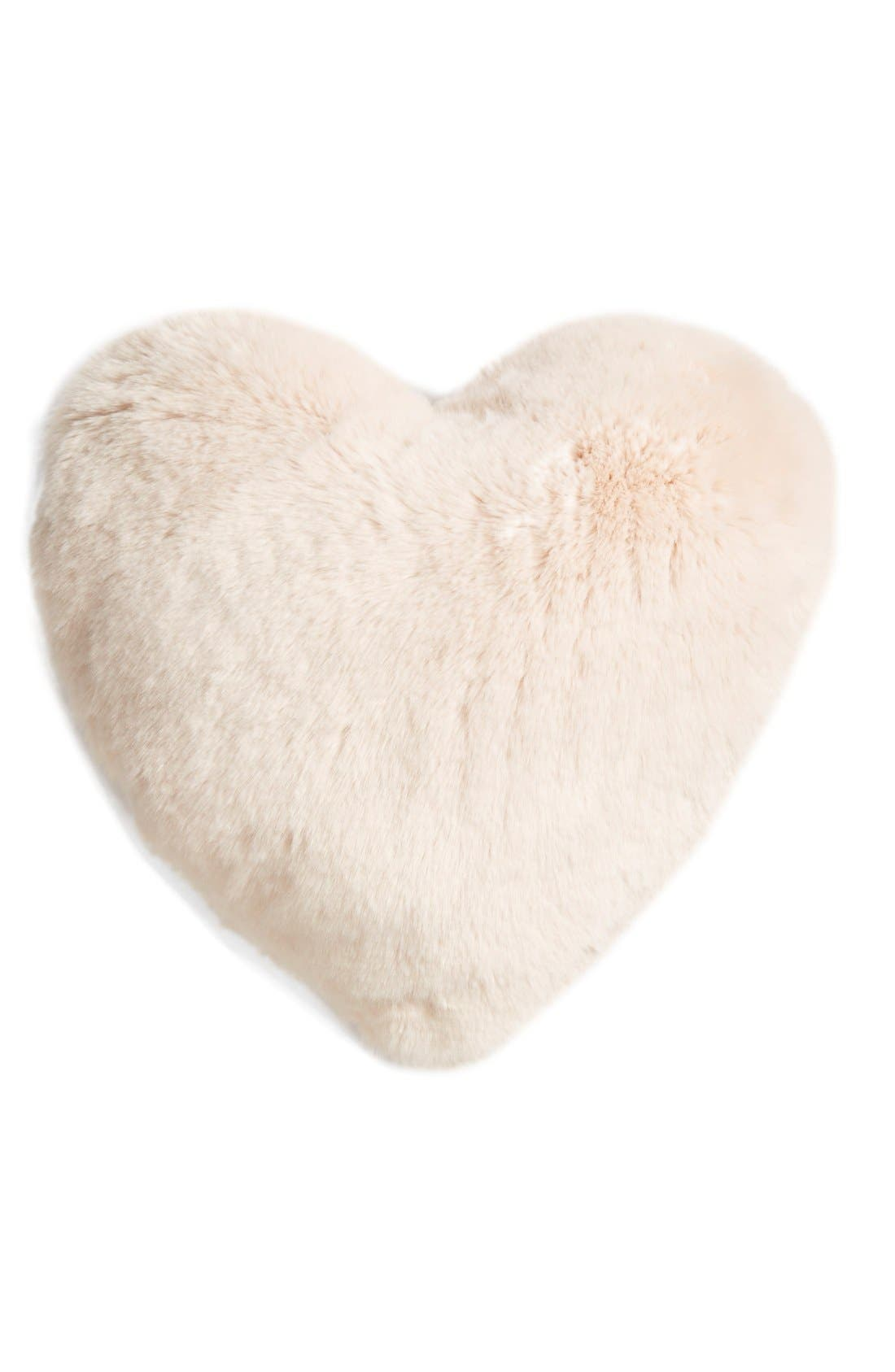 NORDSTROM AT HOME, 'Cuddle Up' Heart Accent Pillow, Main thumbnail 1, color, 650