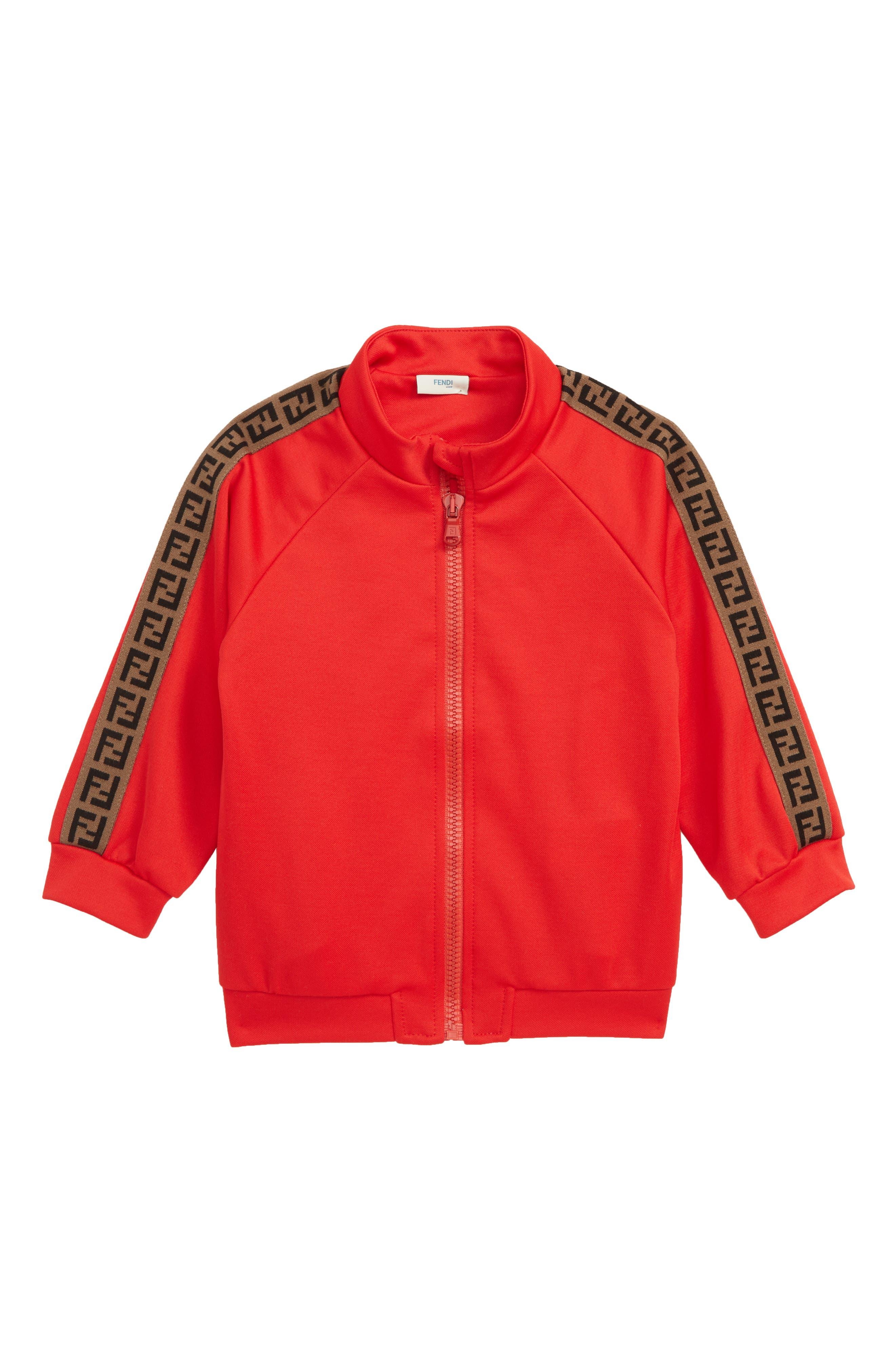 FENDI, Double-F Logo Track Jacket, Main thumbnail 1, color, F0QC9 RED