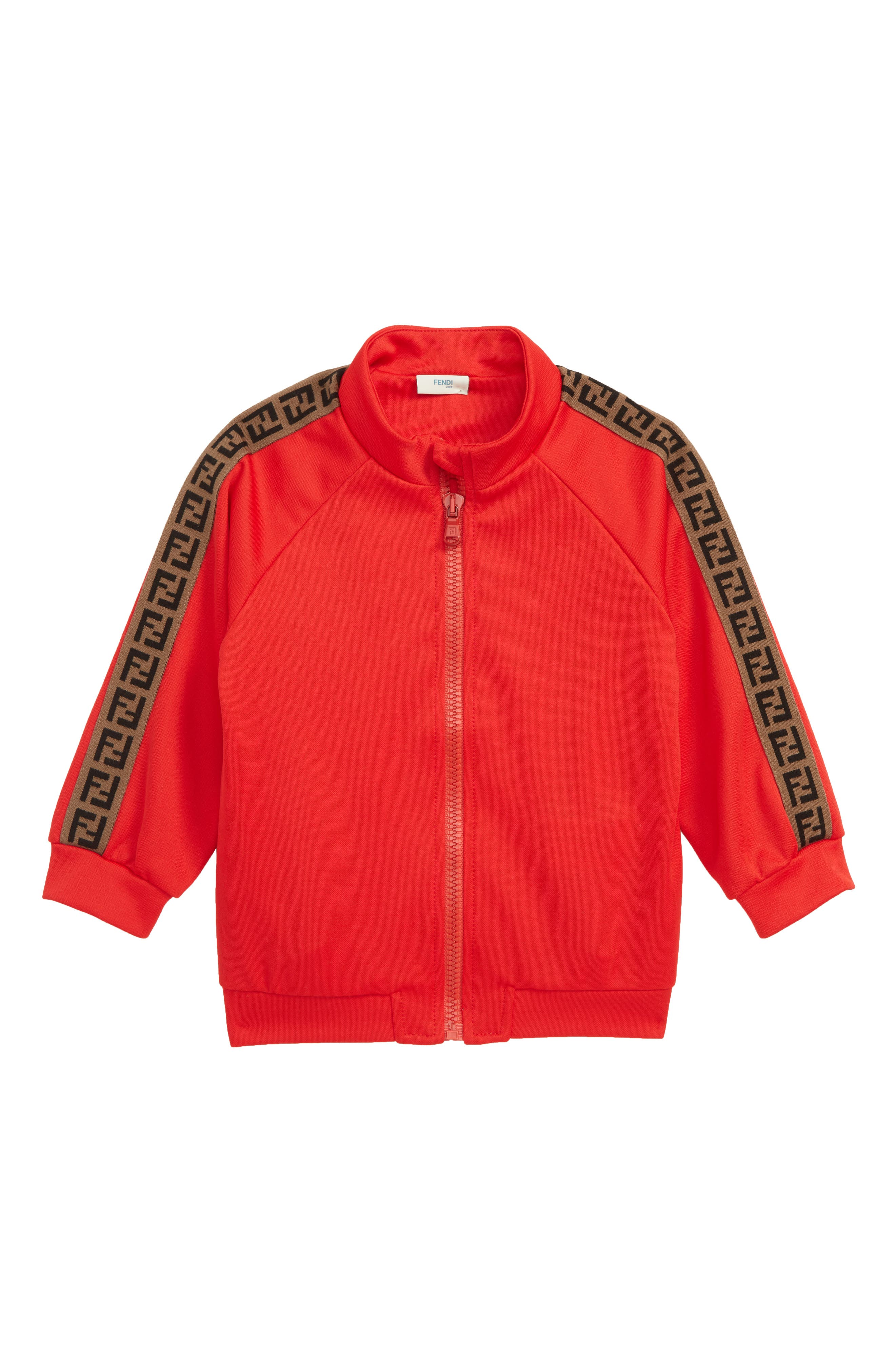 FENDI Double-F Logo Track Jacket, Main, color, F0QC9 RED