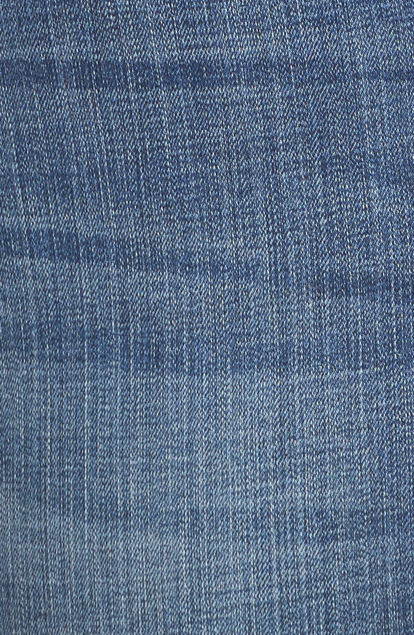 JAG JEANS, Eloise Bootcut Stretch Jeans, Alternate thumbnail 6, color, MED INDIGO