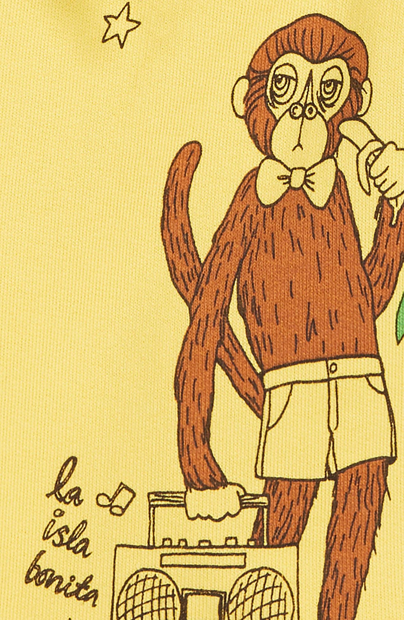 MINI RODINI, Cool Monkey Sweat Shorts, Alternate thumbnail 2, color, 700