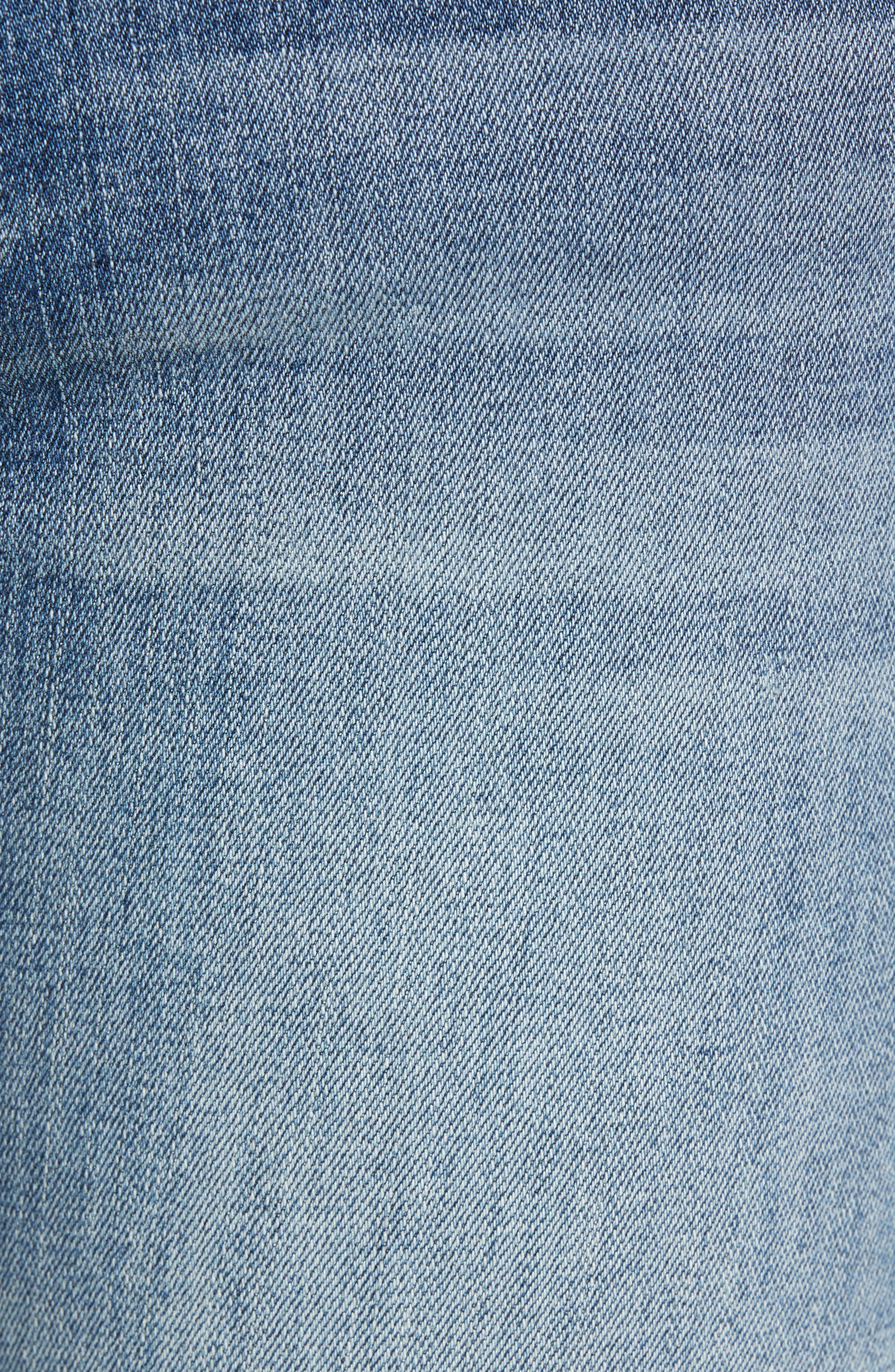 7 FOR ALL MANKIND<SUP>®</SUP>, Dojo Wide Leg Jeans, Alternate thumbnail 6, color, BAIR AUTHENTIC FORTUNE