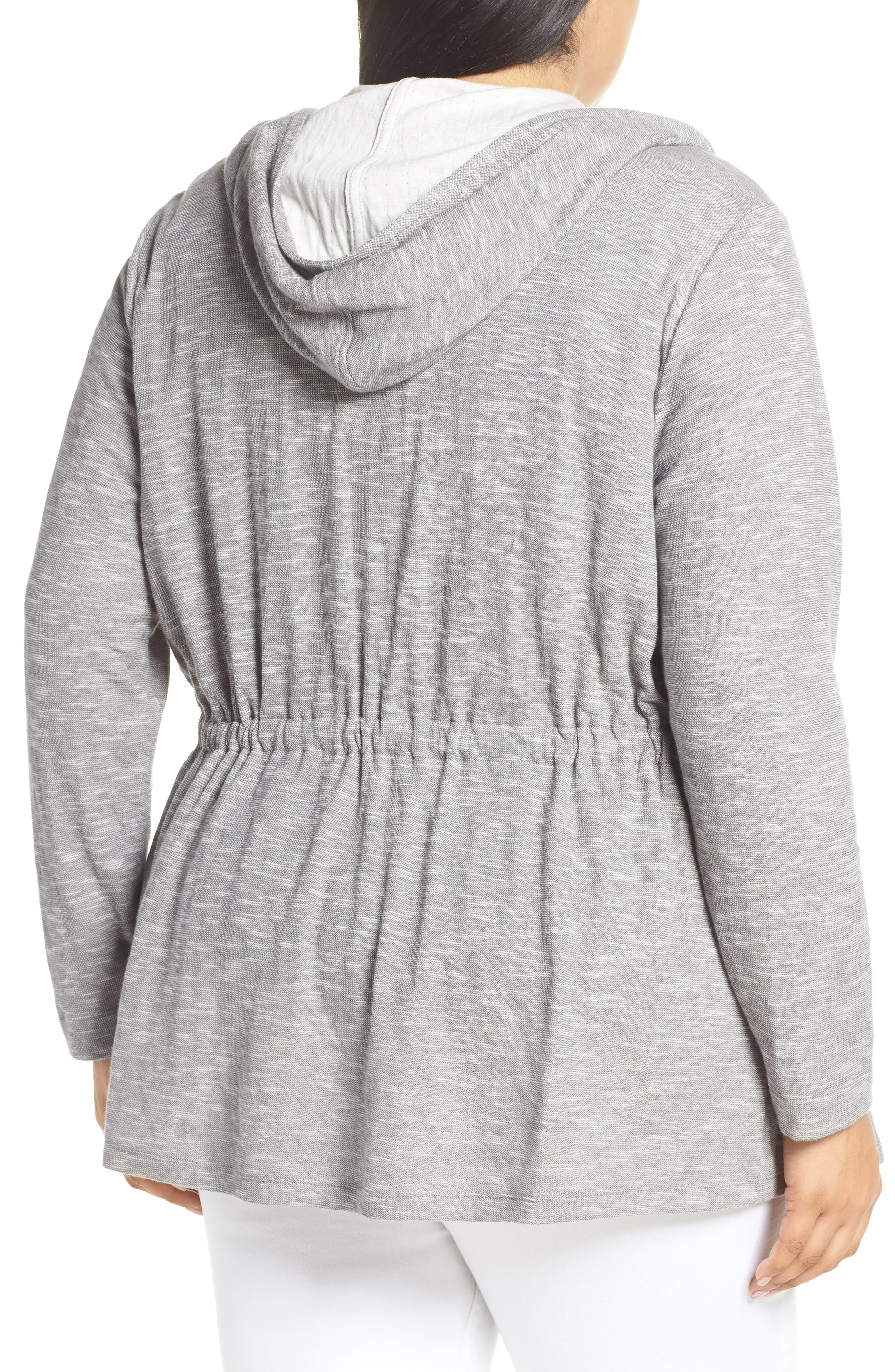 CASLON<SUP>®</SUP>, Open Front Hooded Cardigan, Alternate thumbnail 2, color, 030