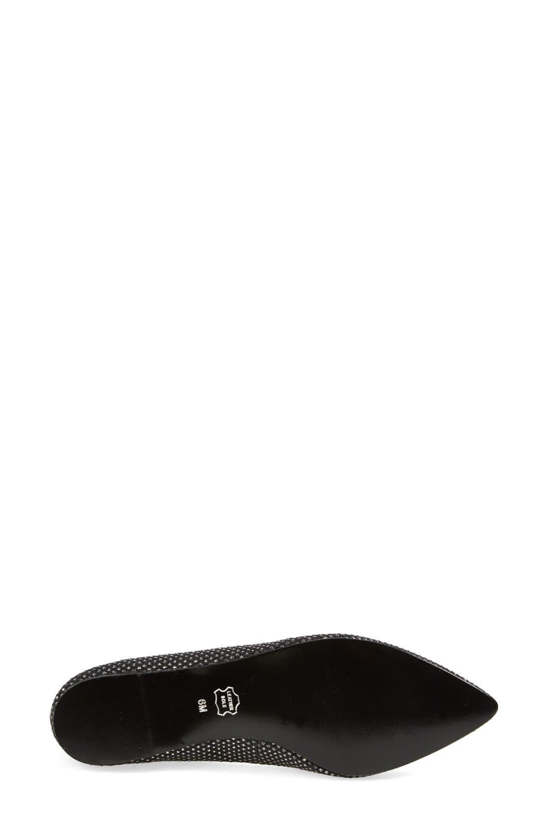 BP., 'Moveover' Pointy Toe Flat, Alternate thumbnail 3, color, 004
