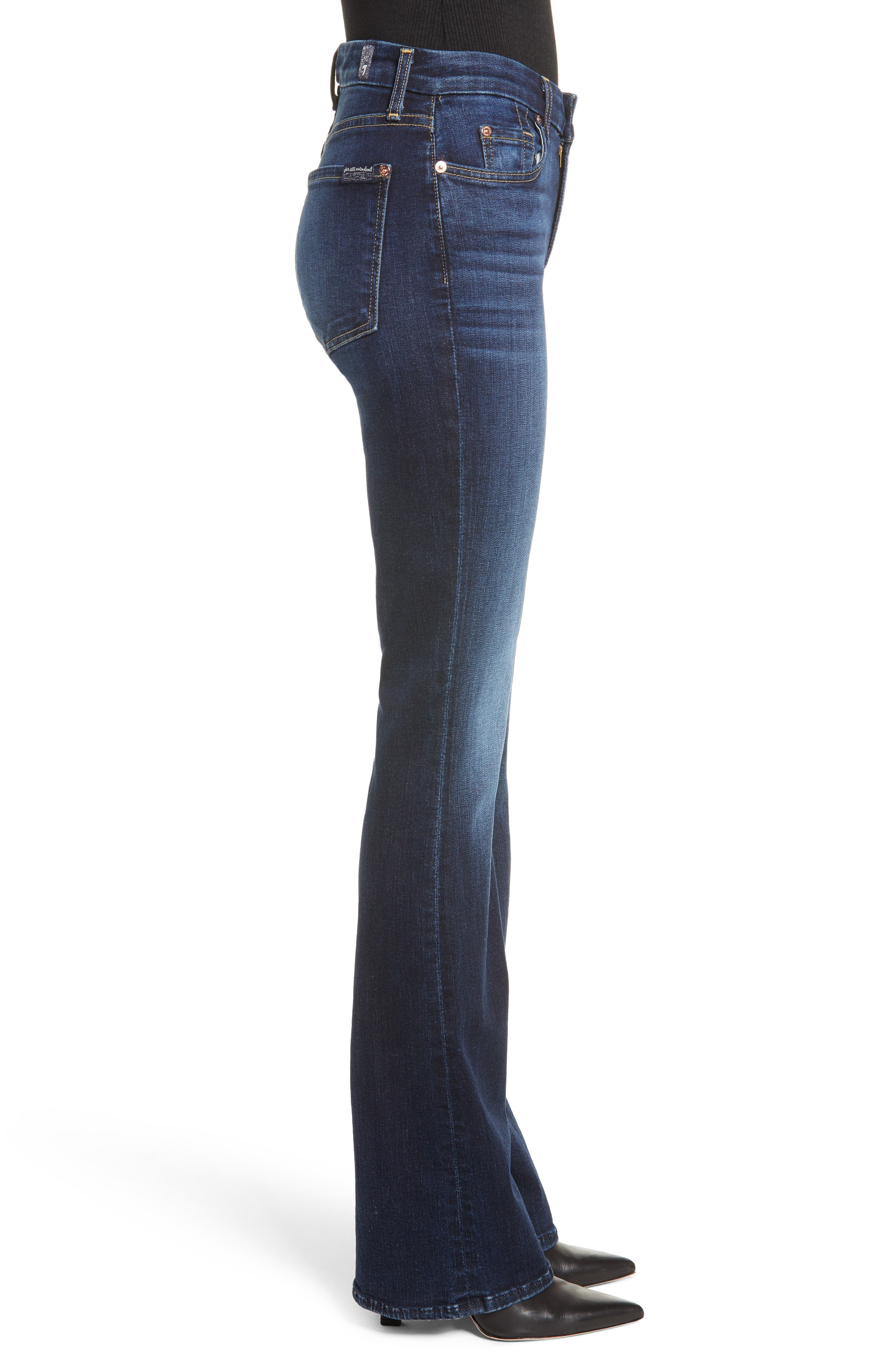 7 FOR ALL MANKIND<SUP>®</SUP>, b(air) Kimmie Bootcut Jeans, Alternate thumbnail 4, color, AUTHENTIC FATE