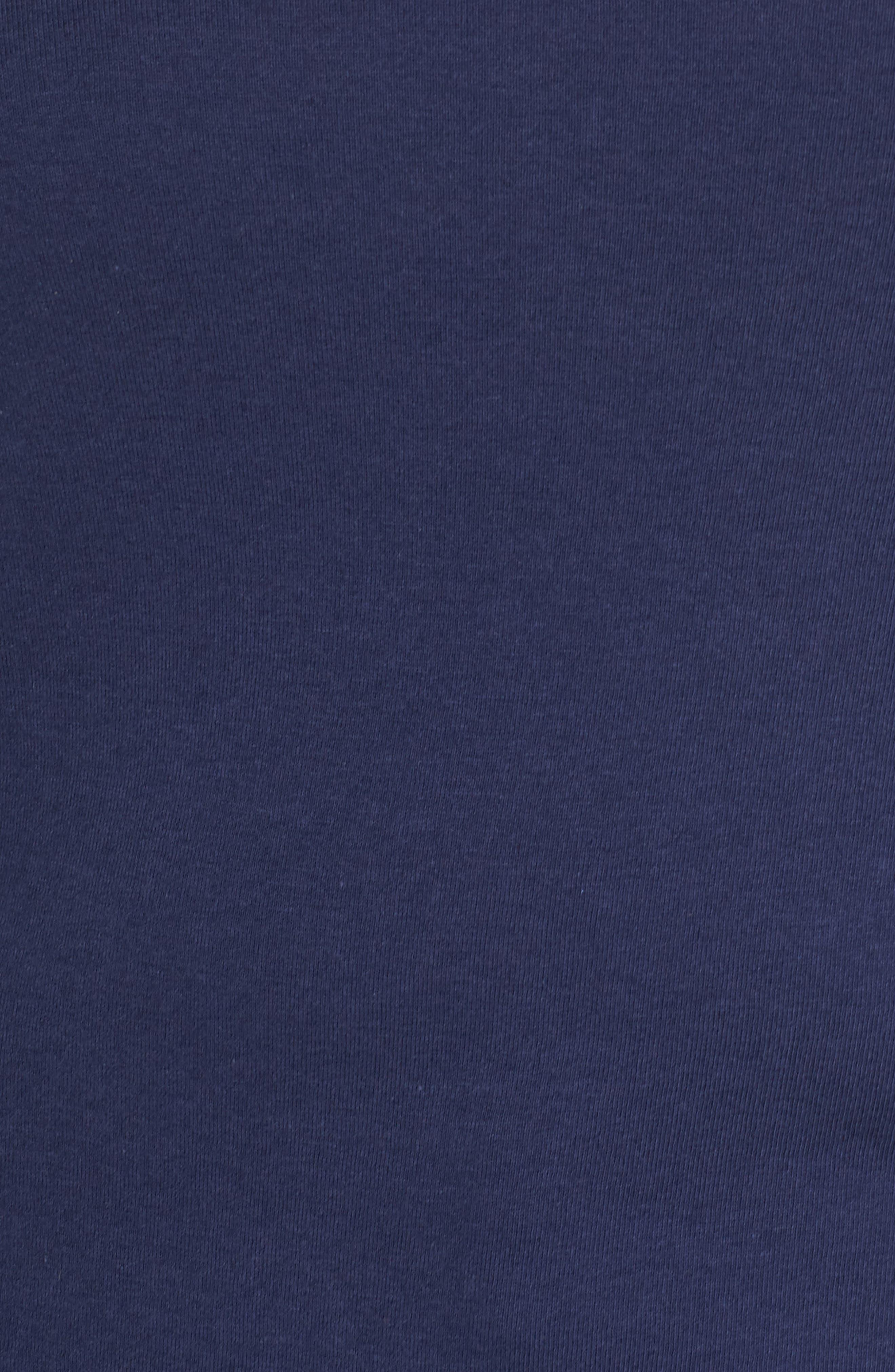 CASLON<SUP>®</SUP>, Crewneck Sweatshirt, Alternate thumbnail 5, color, NAVY PEACOAT