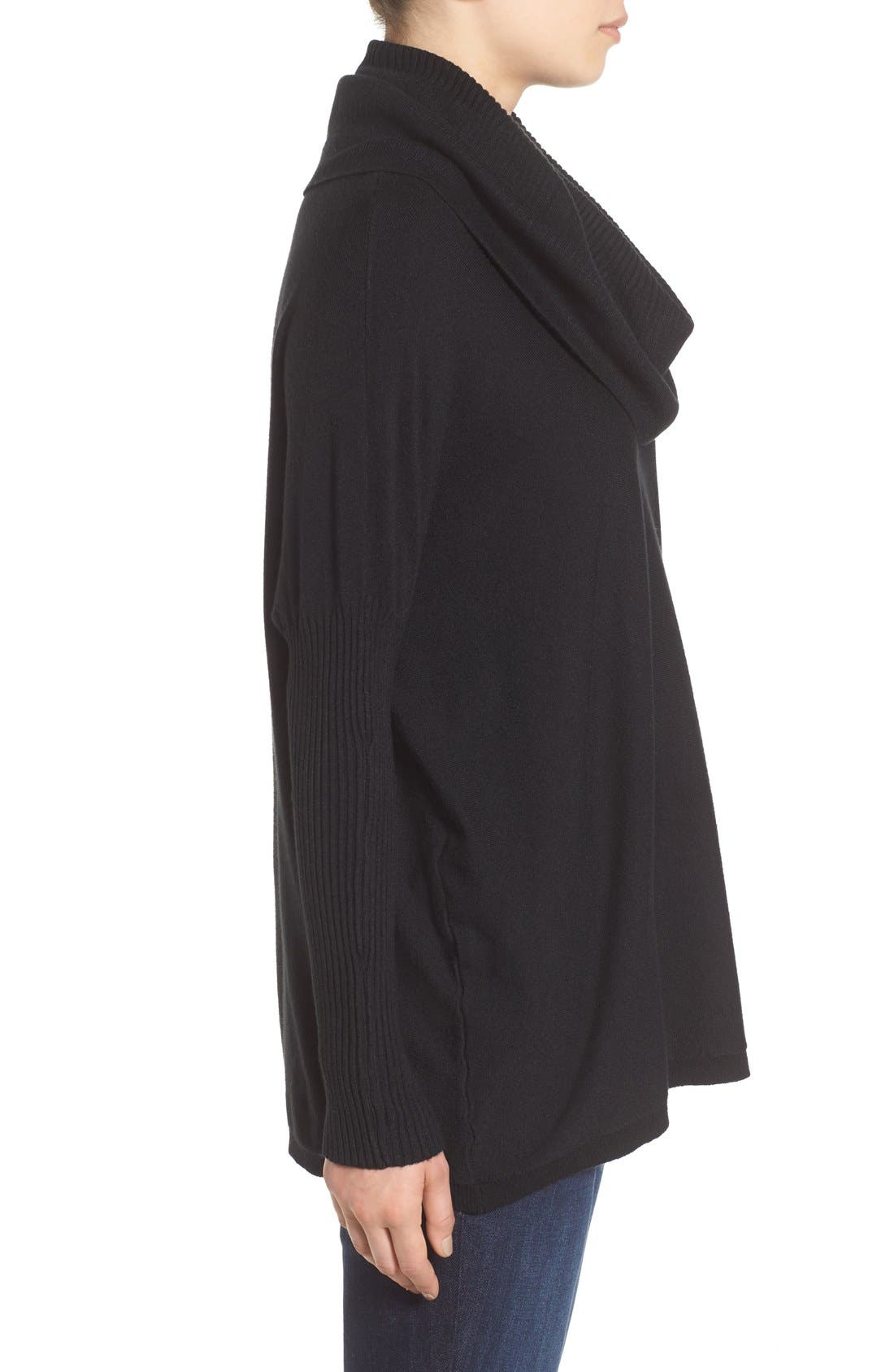 DREAMERS BY DEBUT, Cowl Neck Boxy Pullover, Alternate thumbnail 4, color, 001