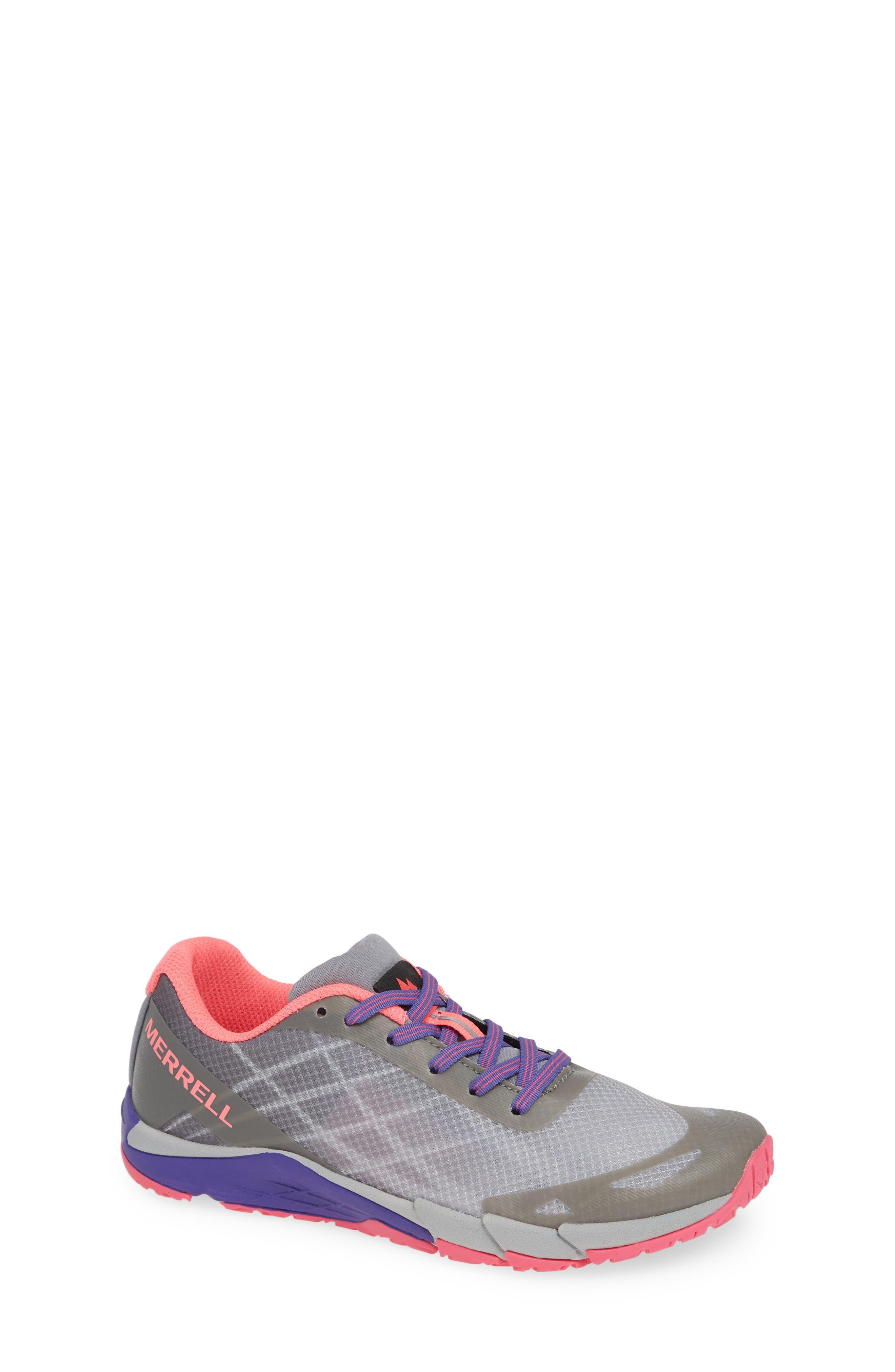 MERRELL, Bare Access Sneaker, Main thumbnail 1, color, GREY/ MULTI SYNTHETIC