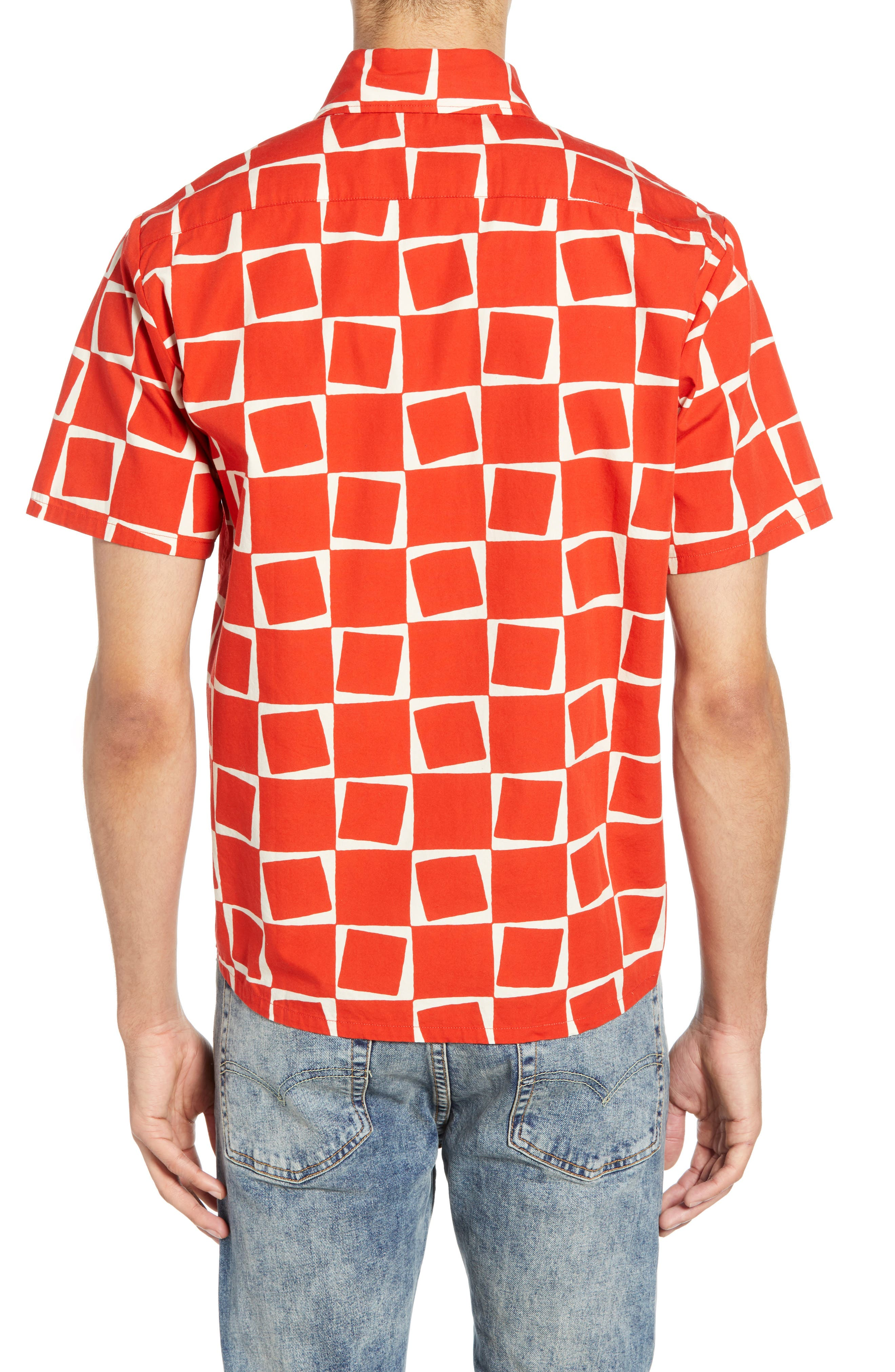 LEVI'S<SUP>®</SUP> VINTAGE CLOTHING, 1950s Regular Atomic Square Woven Shirt, Alternate thumbnail 3, color, 600