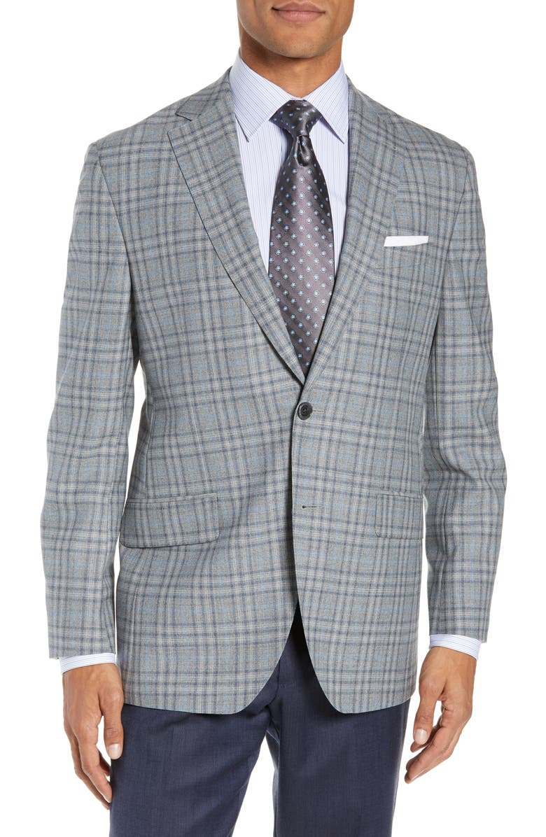 David Donahue  ASHTON CLASSIC FIT PLAID WOOL SPORT COAT