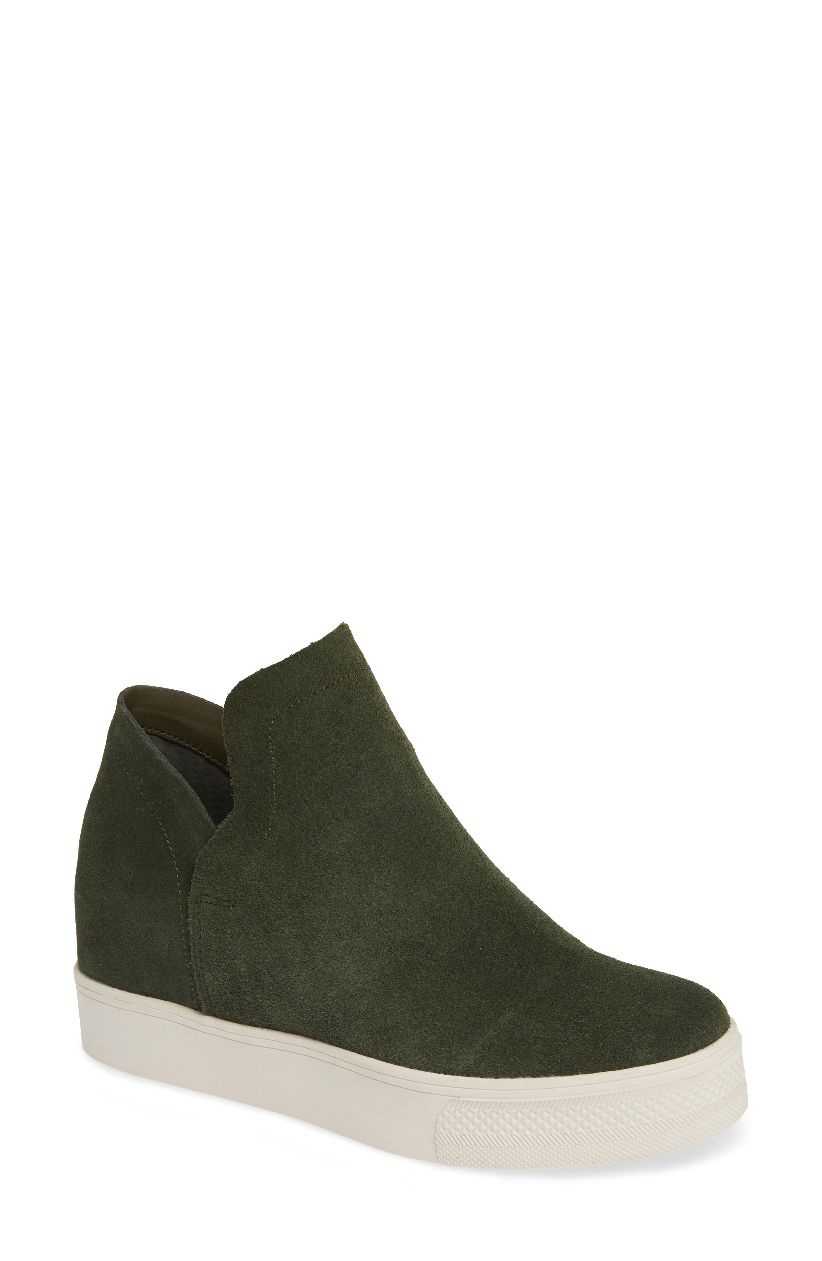 STEVE MADDEN, Wrangle Sneaker, Main thumbnail 1, color, OLIVE SUEDE