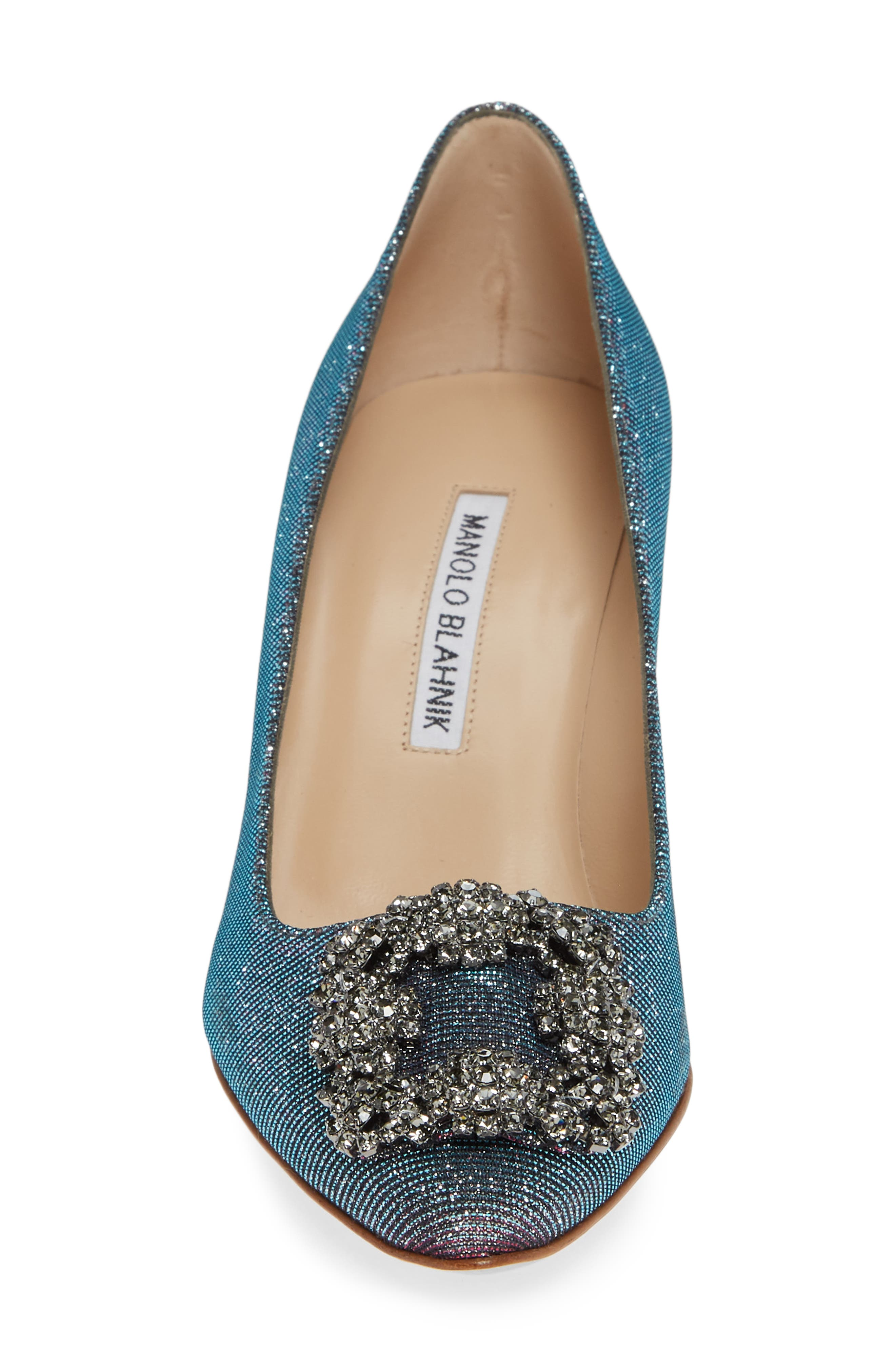 MANOLO BLAHNIK, Hangisi Pump, Alternate thumbnail 4, color, MIDNIGHT BLUE