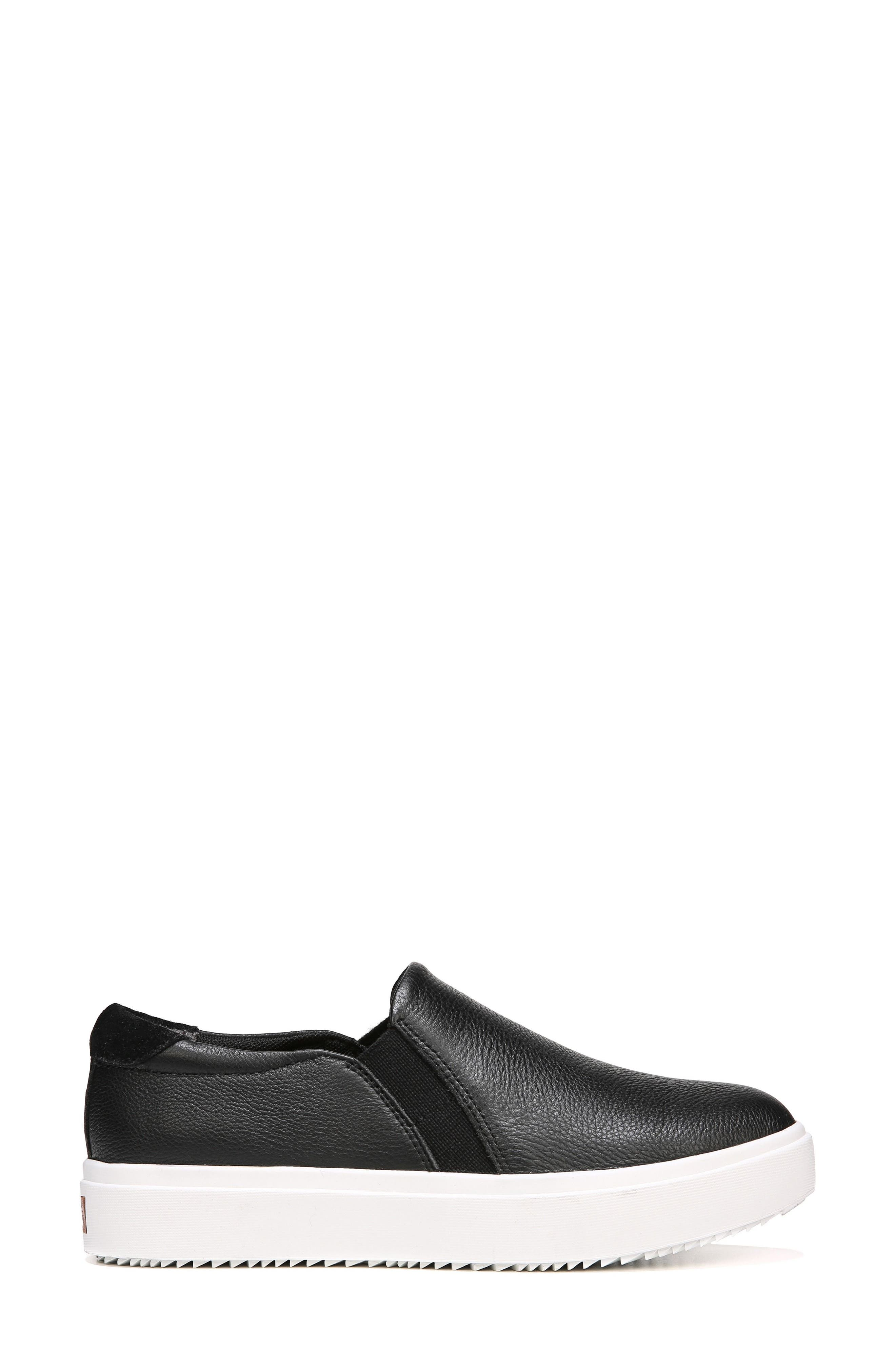 DR. SCHOLL'S, Leta Slip-On Sneaker, Alternate thumbnail 2, color, BLACK LEATHER