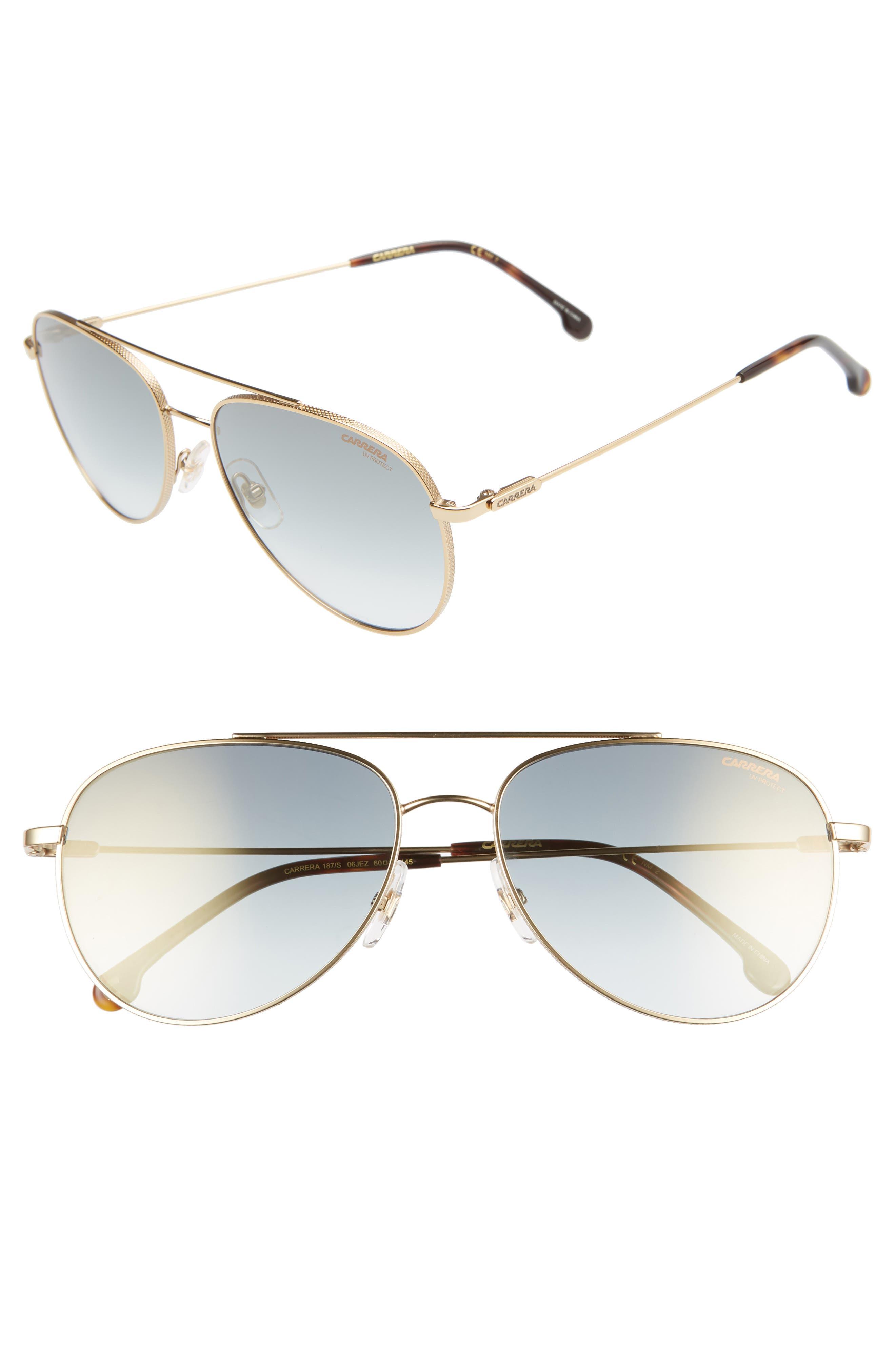 66179b64a4 Carrera Eyewear 60Mm Aviator Sunglasses - Gold Havana