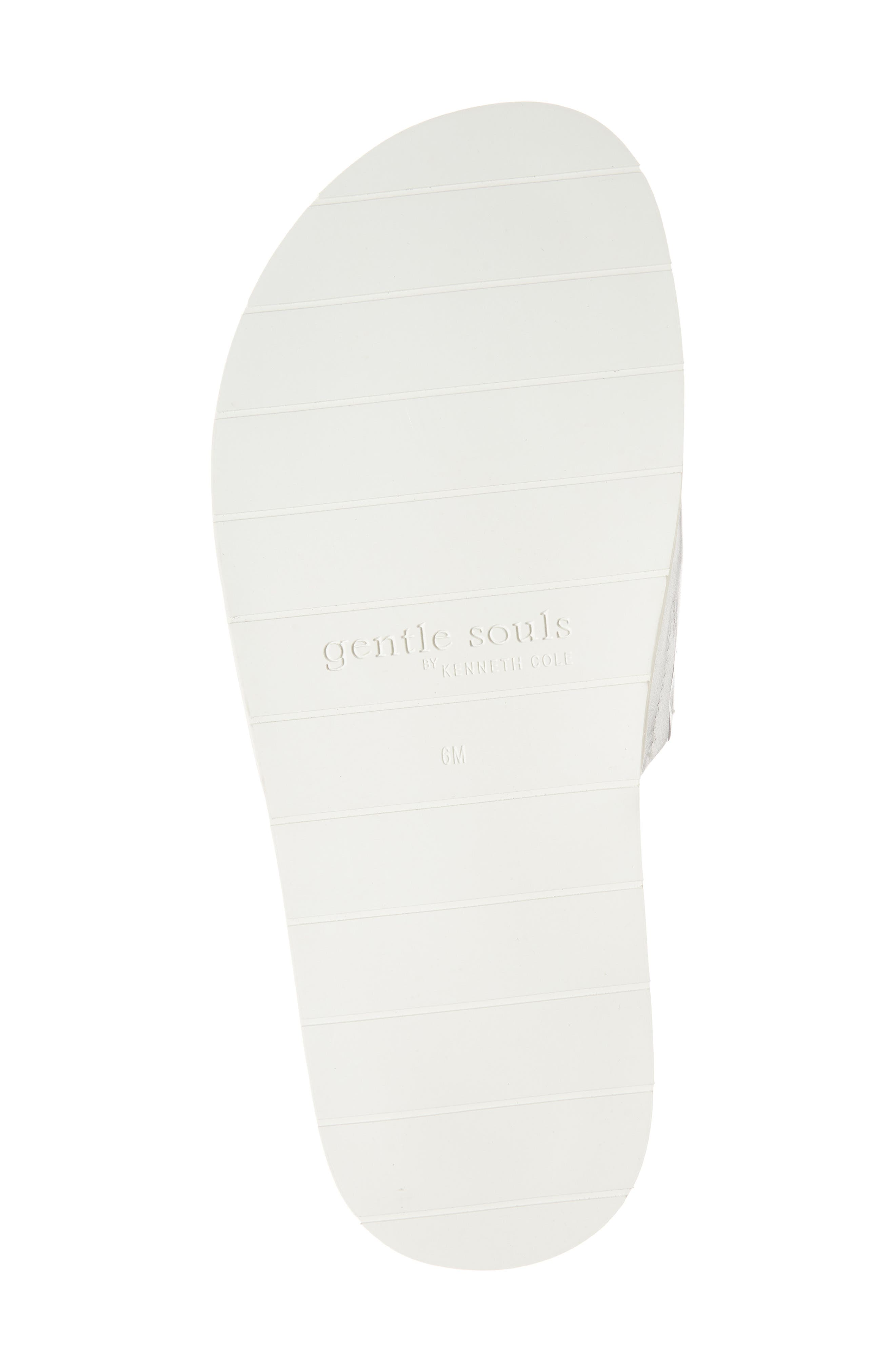GENTLE SOULS BY KENNETH COLE, Iona Slide Sandal, Alternate thumbnail 6, color, SILVER METALLIC LEATHER