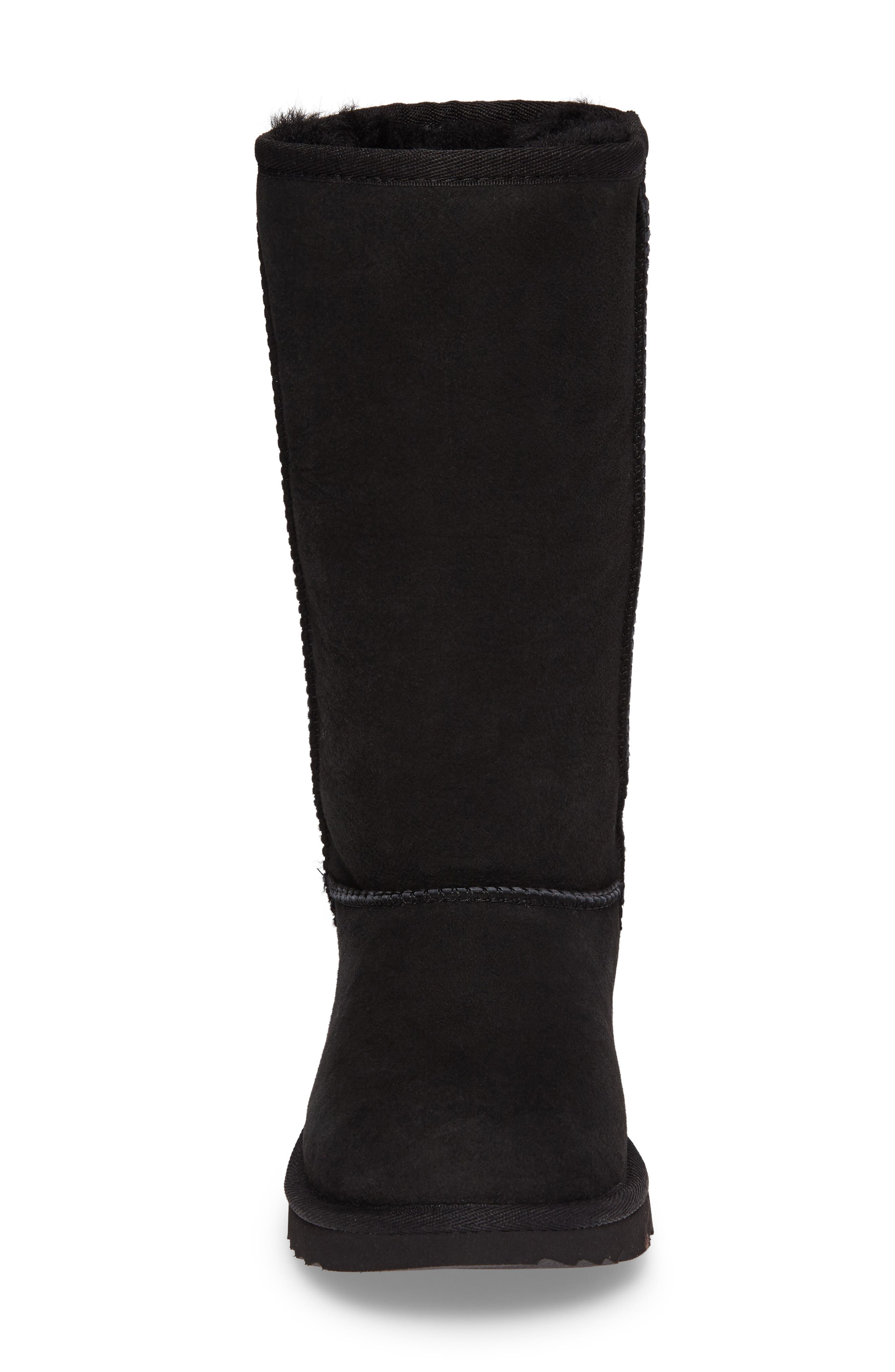 UGG<SUP>®</SUP>, Classic II Water-Resistant Tall Boot, Alternate thumbnail 4, color, BLACK