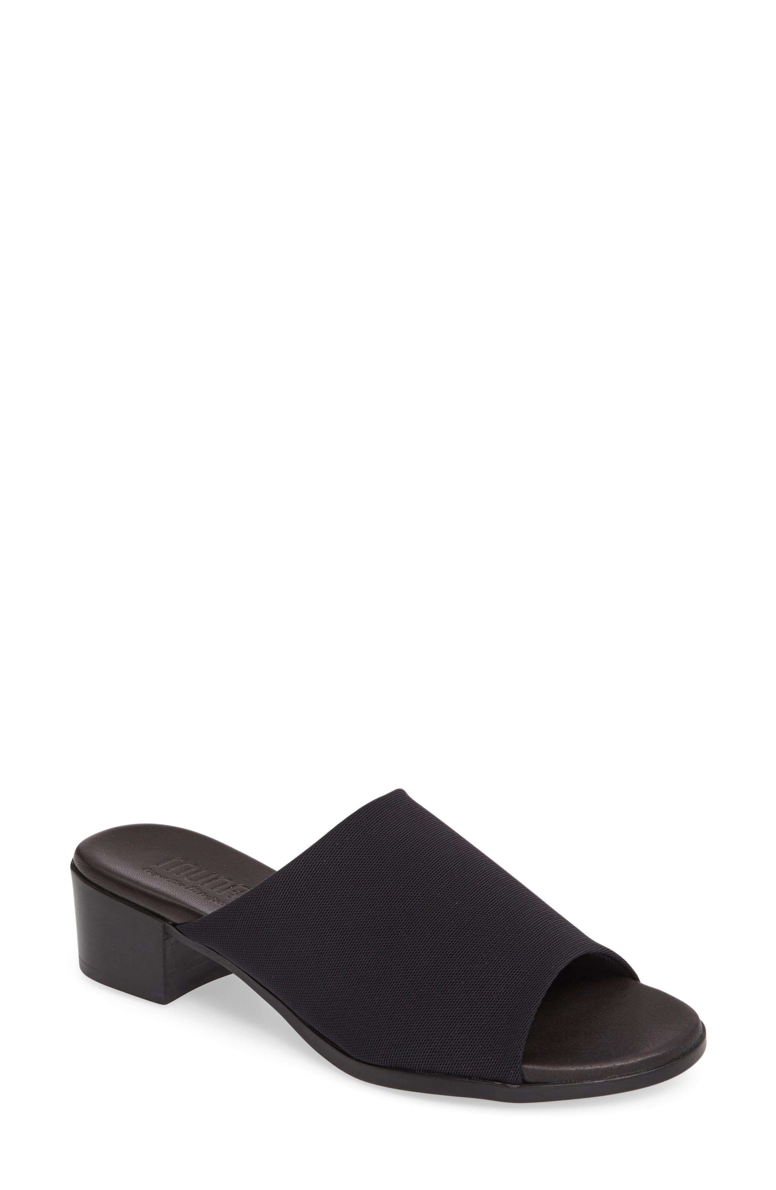 MUNRO Beth Slide Sandal, Main, color, BLACK FABRIC