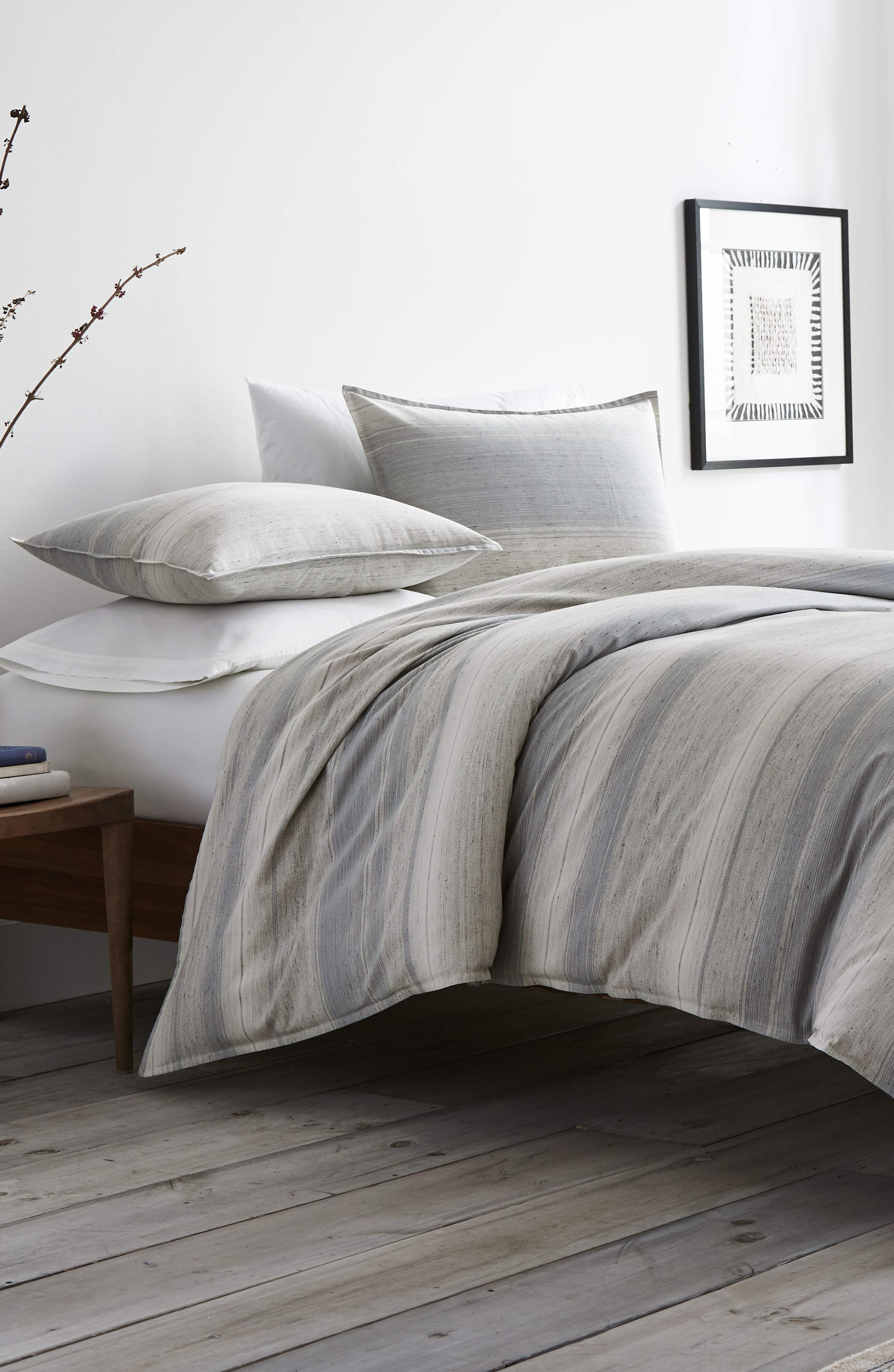 ED ELLEN DEGENERES Jaspé Comforter & Sham Set, Main, color, PASTEL GREY