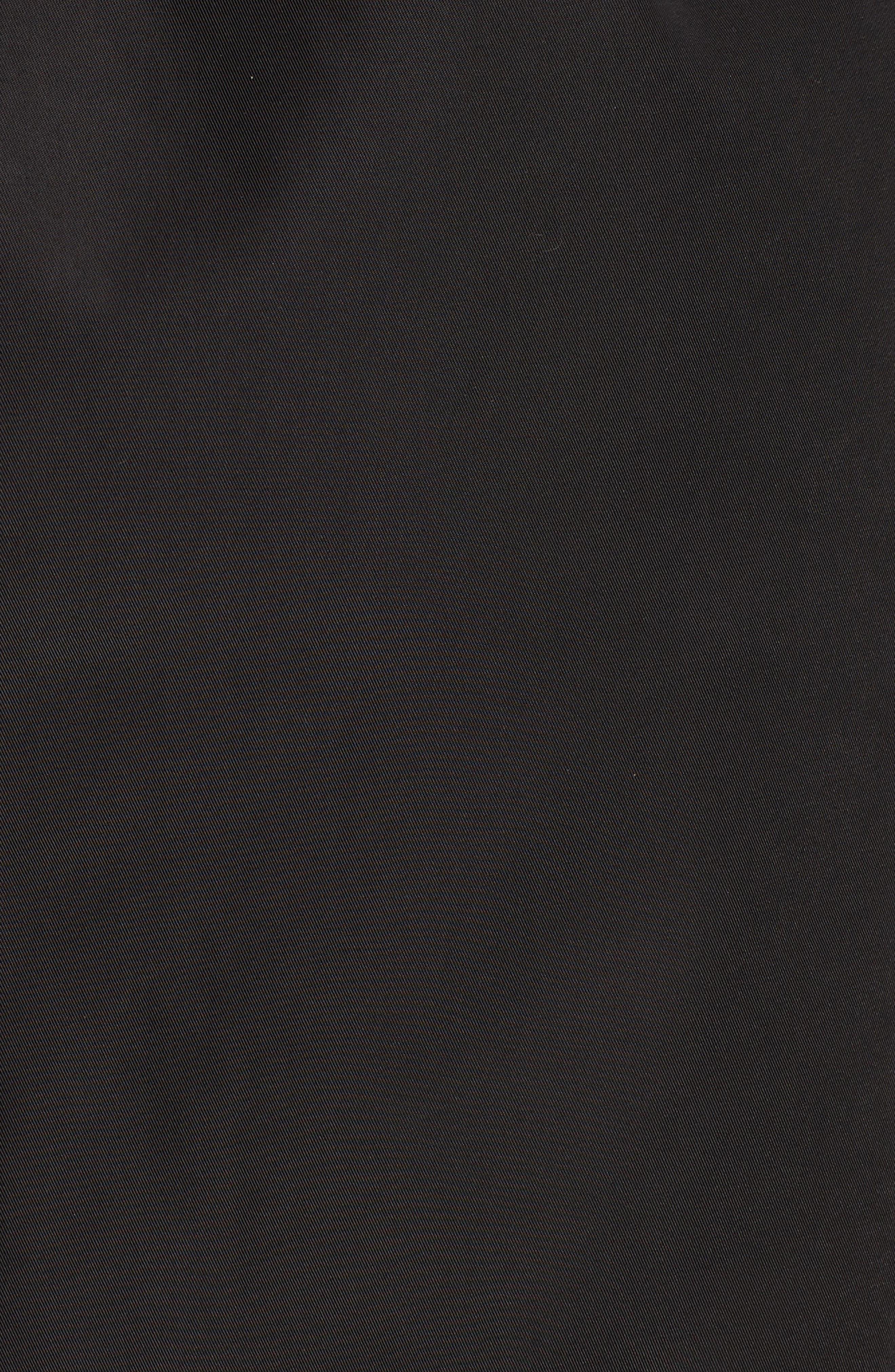 KRISTEN BLAKE, Tech Hooded Trench Coat, Alternate thumbnail 7, color, BLACK