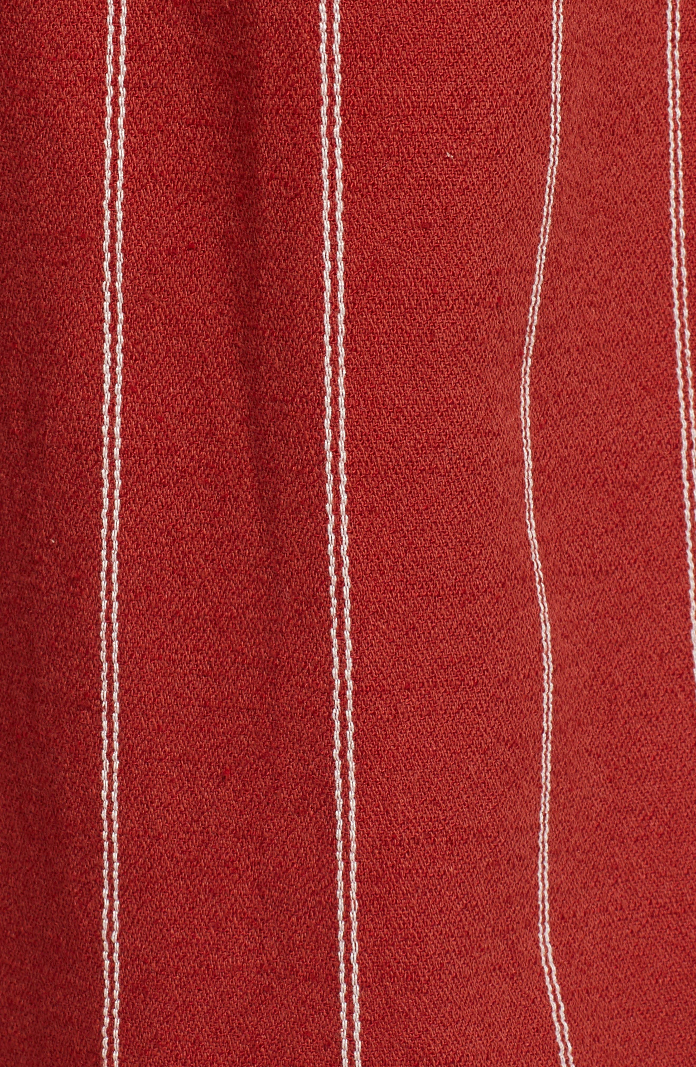 J.O.A., Wide Leg Linen & Cotton Pants, Alternate thumbnail 6, color, BRICK STRIPE