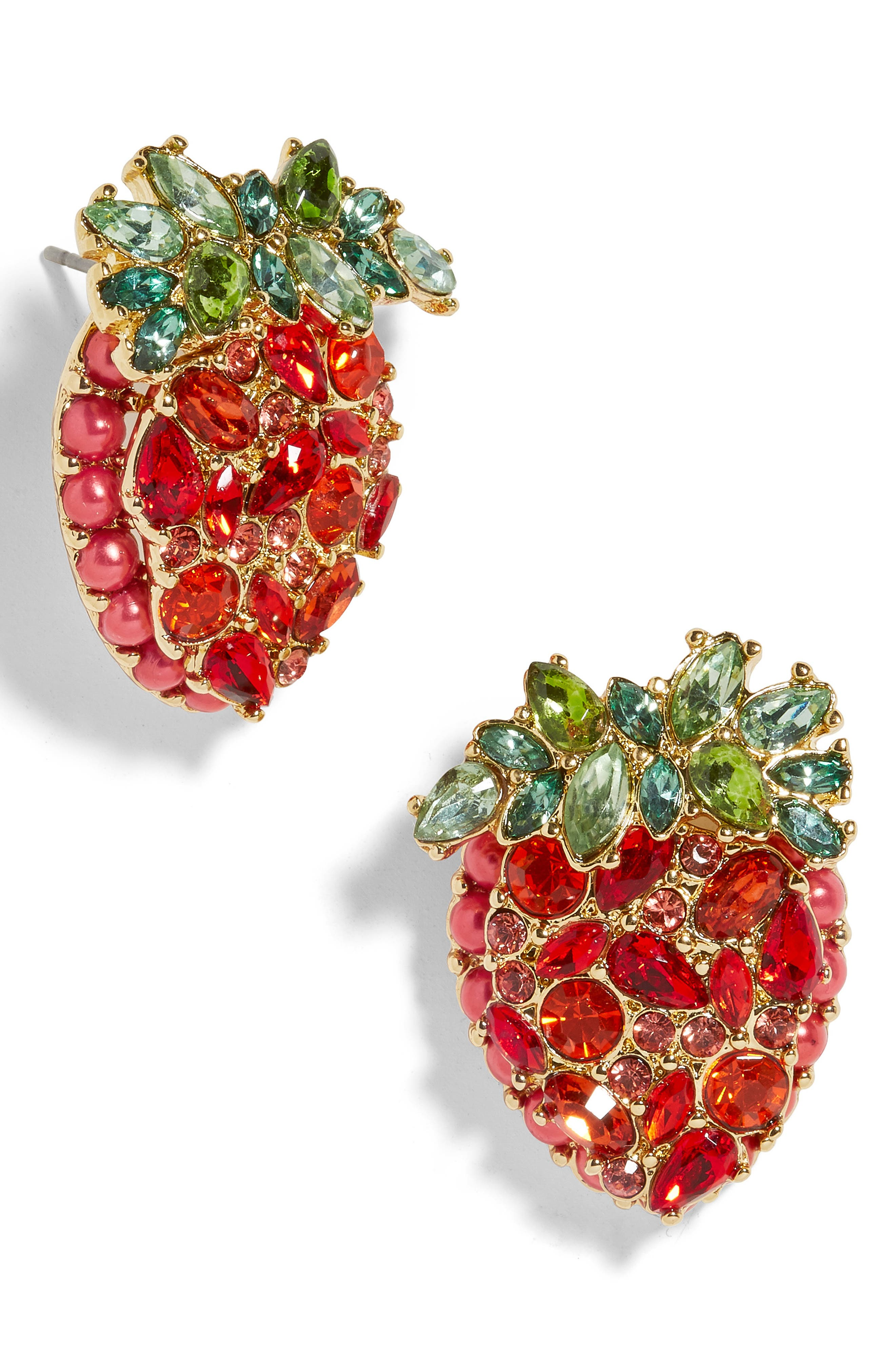BAUBLEBAR, Strawberry Stud Earrings, Main thumbnail 1, color, RED