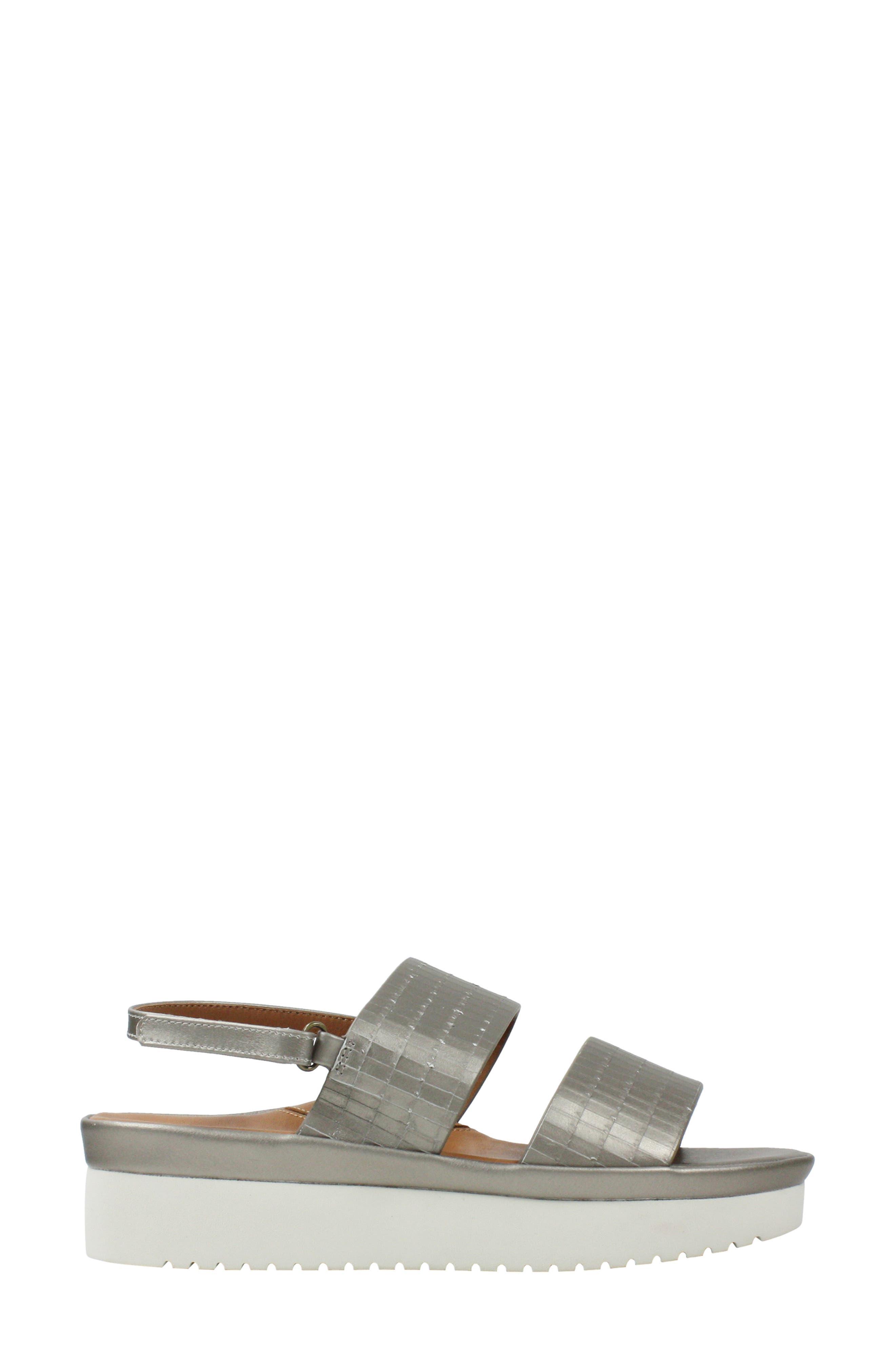 L'AMOUR DES PIEDS, Abruzzo Slingback Platform Wedge Sandal, Alternate thumbnail 3, color, PEARLIZED PLATINUM LEATHER