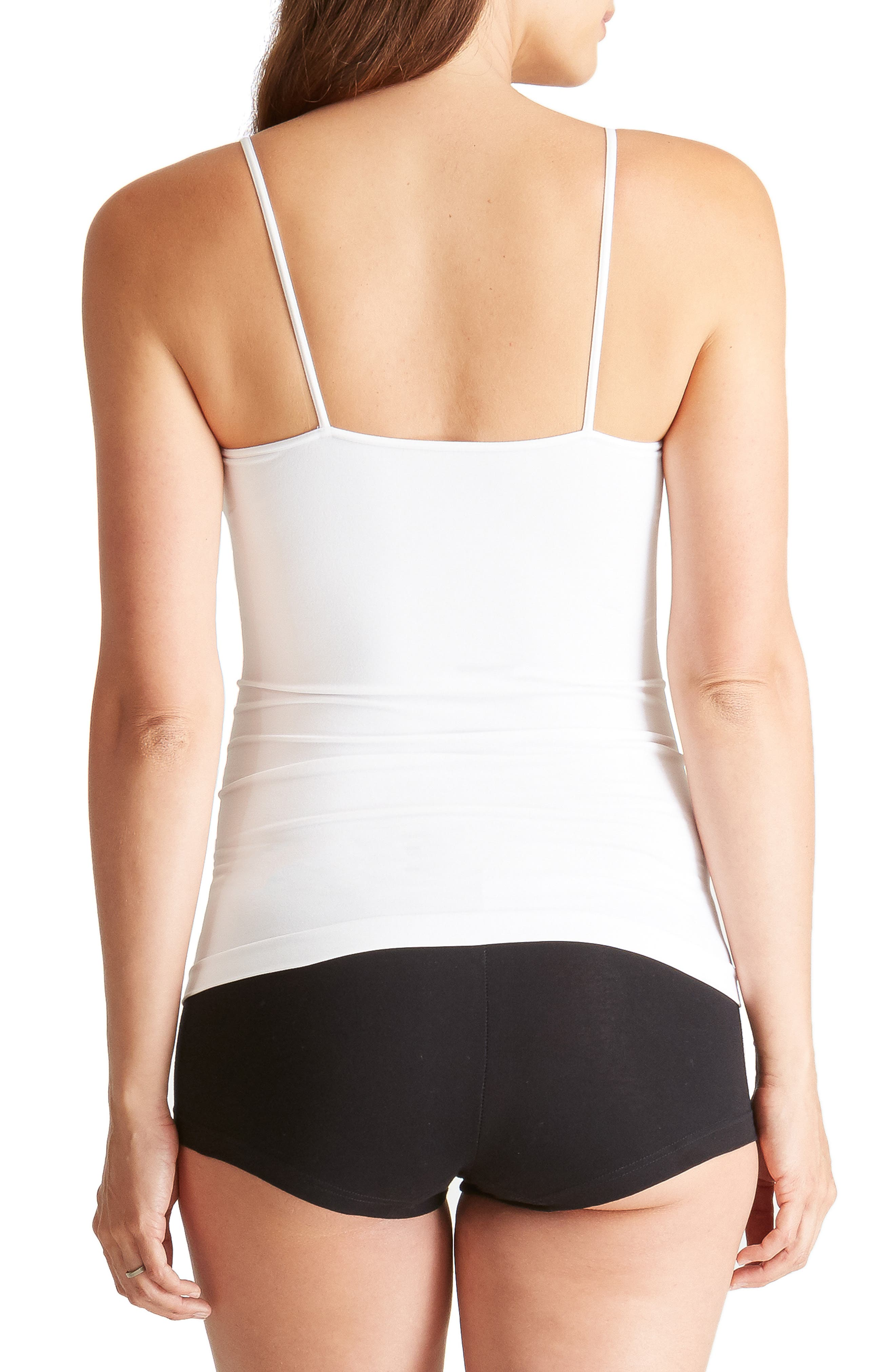 INGRID & ISABEL<SUP>®</SUP>, 'Everyday' Seamless Maternity Camisole, Alternate thumbnail 2, color, WHITE