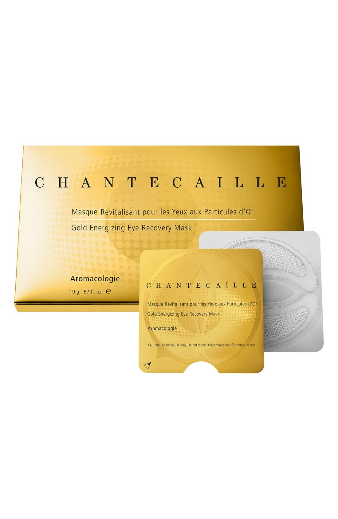 CHANTECAILLE, Gold Energizing Eye Recovery Mask, Main thumbnail 1, color, NO COLOR