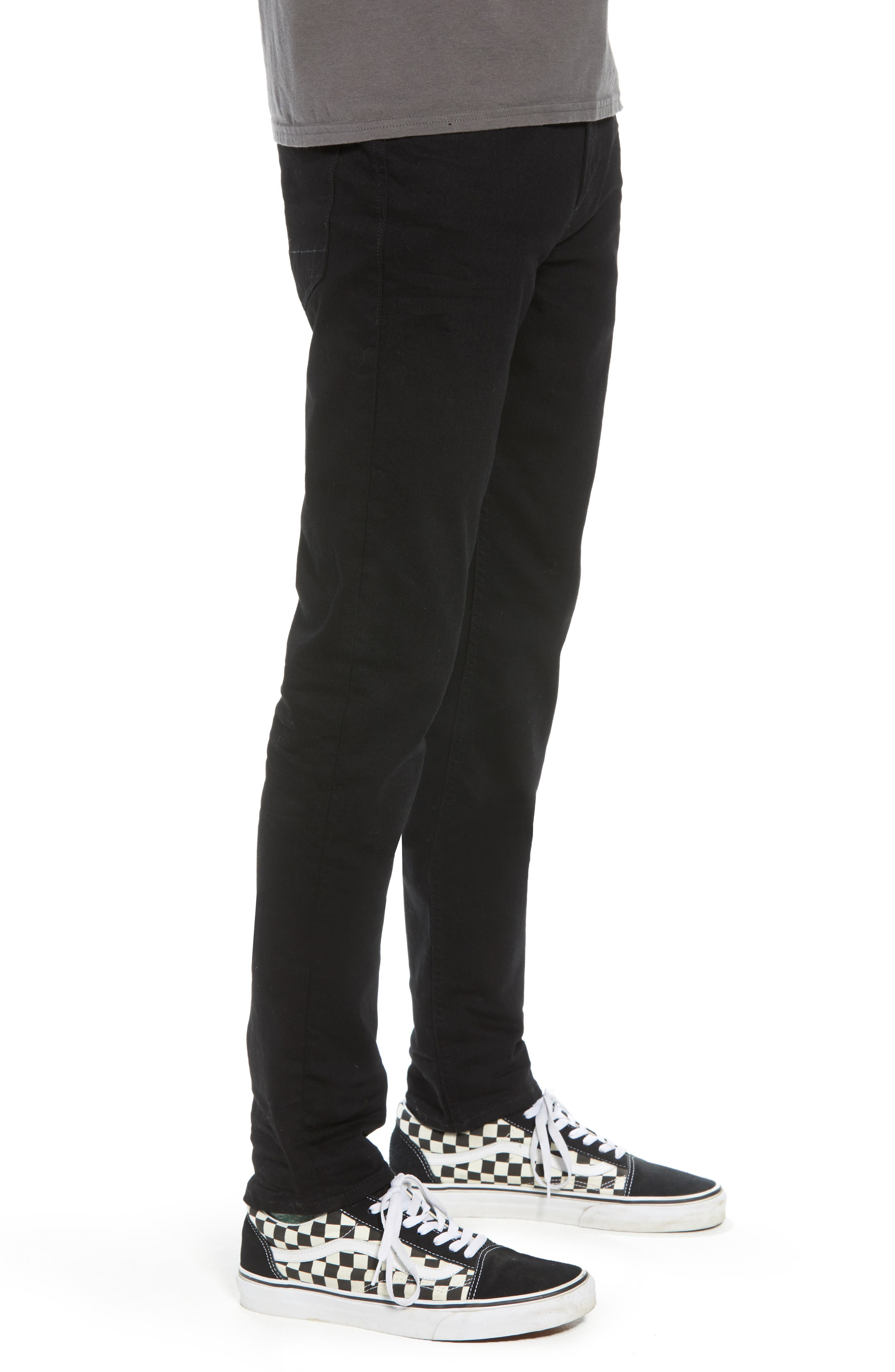 HUDSON JEANS, Hudson Axl Skinny Fit Jeans, Alternate thumbnail 3, color, HASKETT