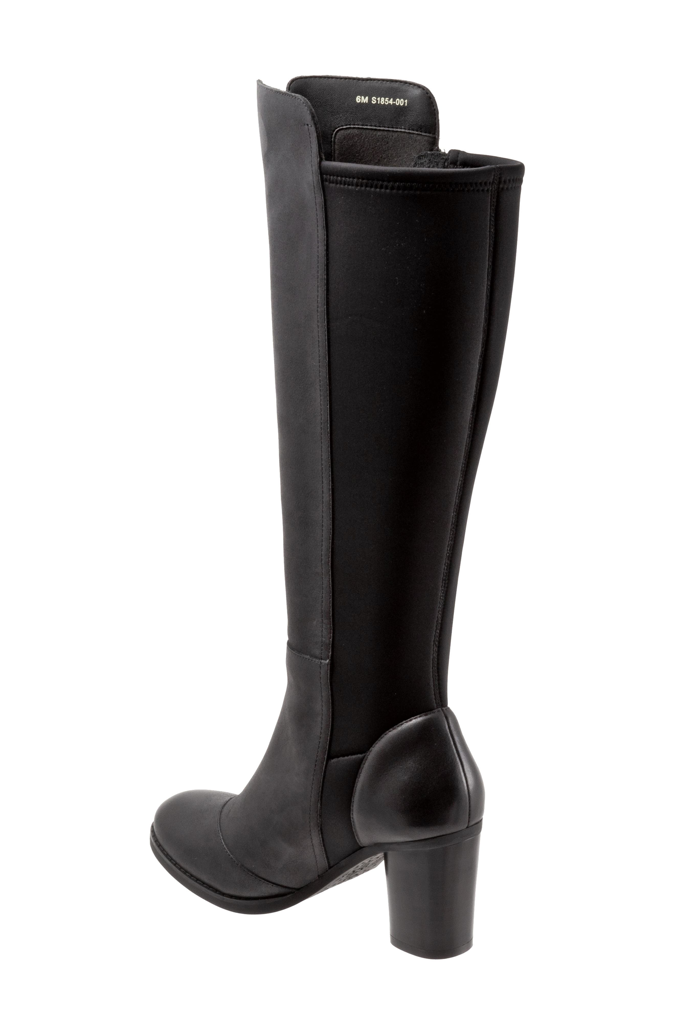 SOFTWALK<SUP>®</SUP>, Katia Knee High Boot, Alternate thumbnail 2, color, BLACK LEATHER