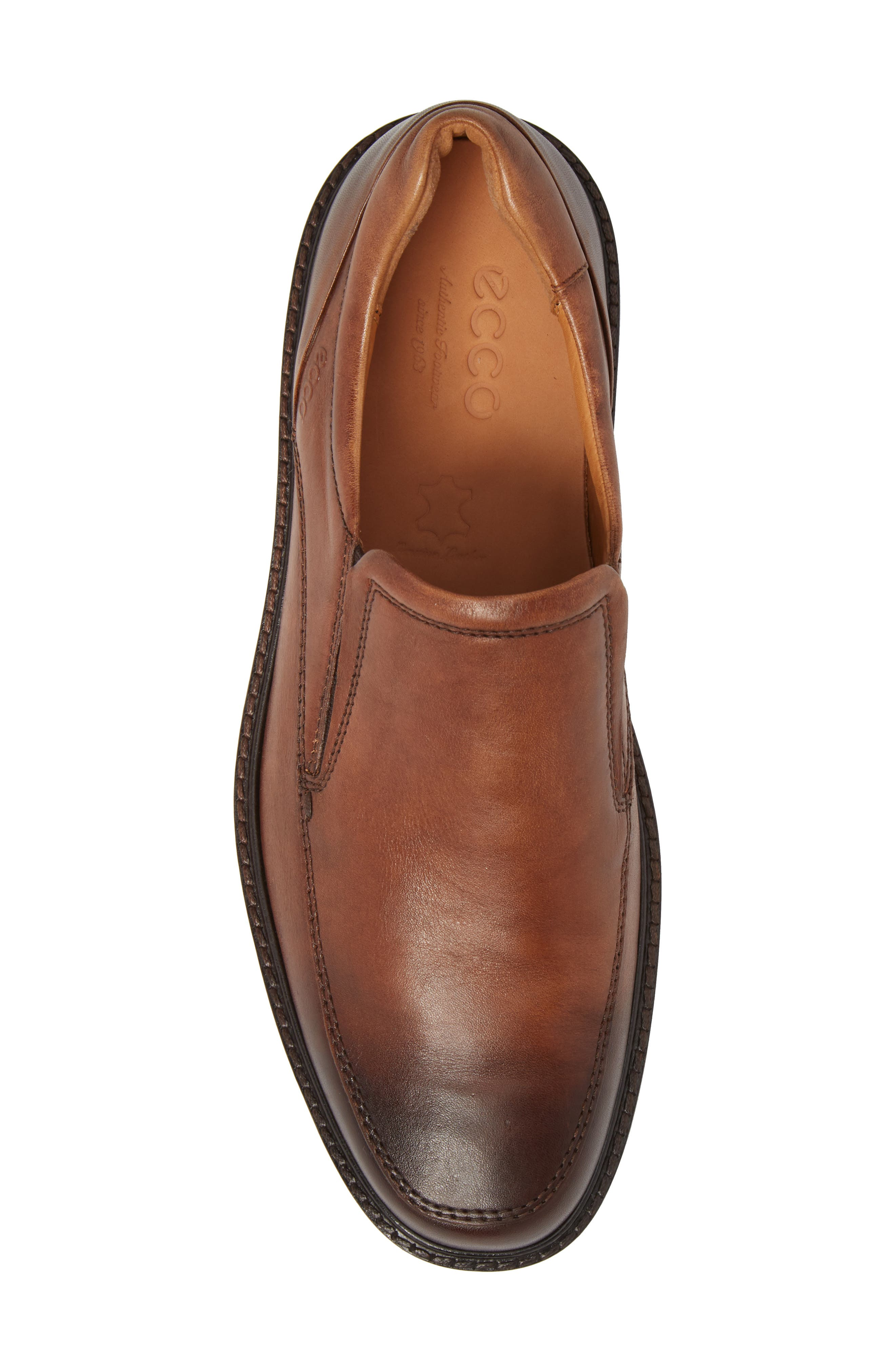 ECCO, Holton Slip-On, Alternate thumbnail 5, color, AMBER LEATHER