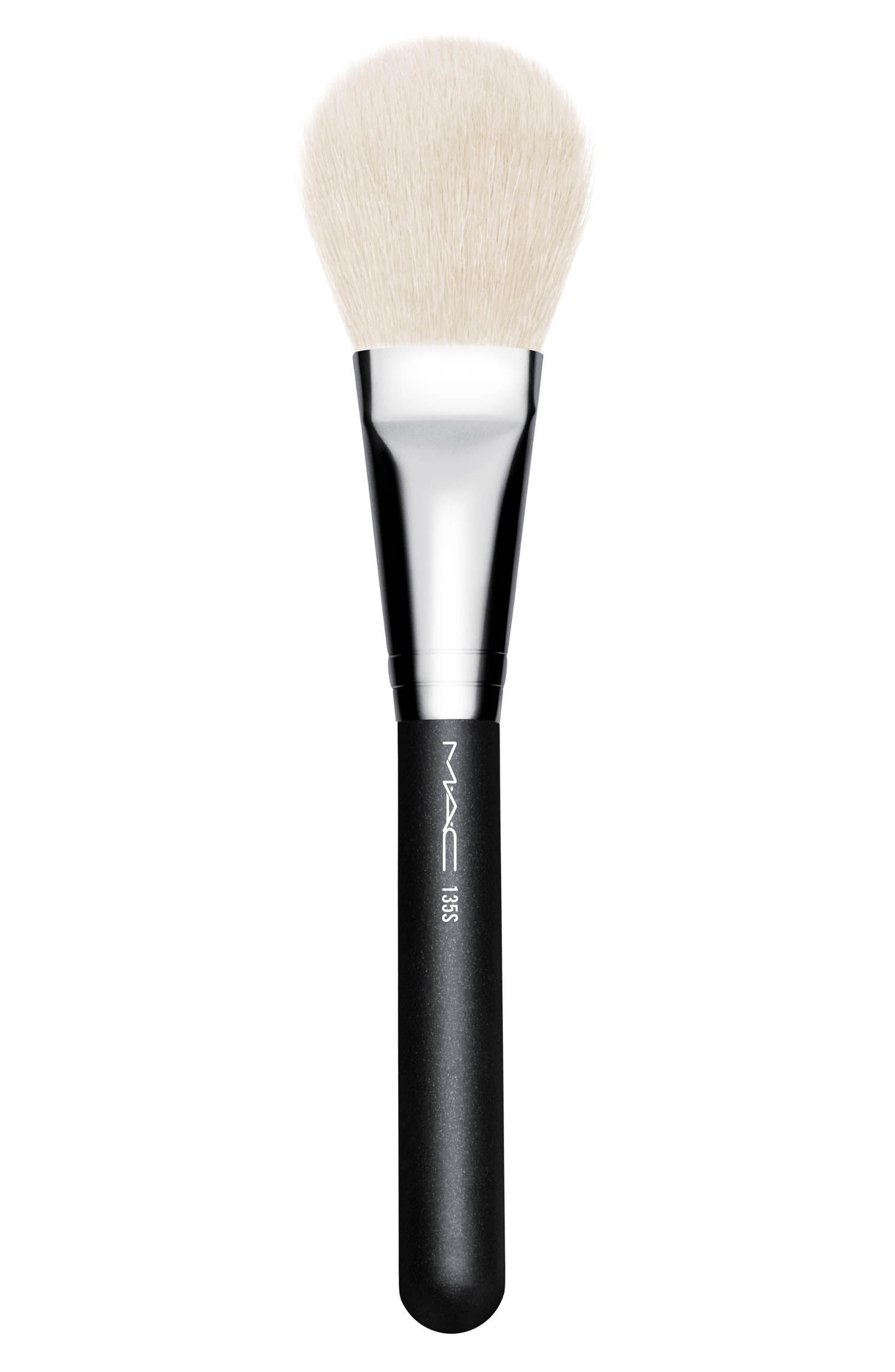 MAC COSMETICS, MAC 135S Synthetic Large Flat Powder Brush, Main thumbnail 1, color, 000