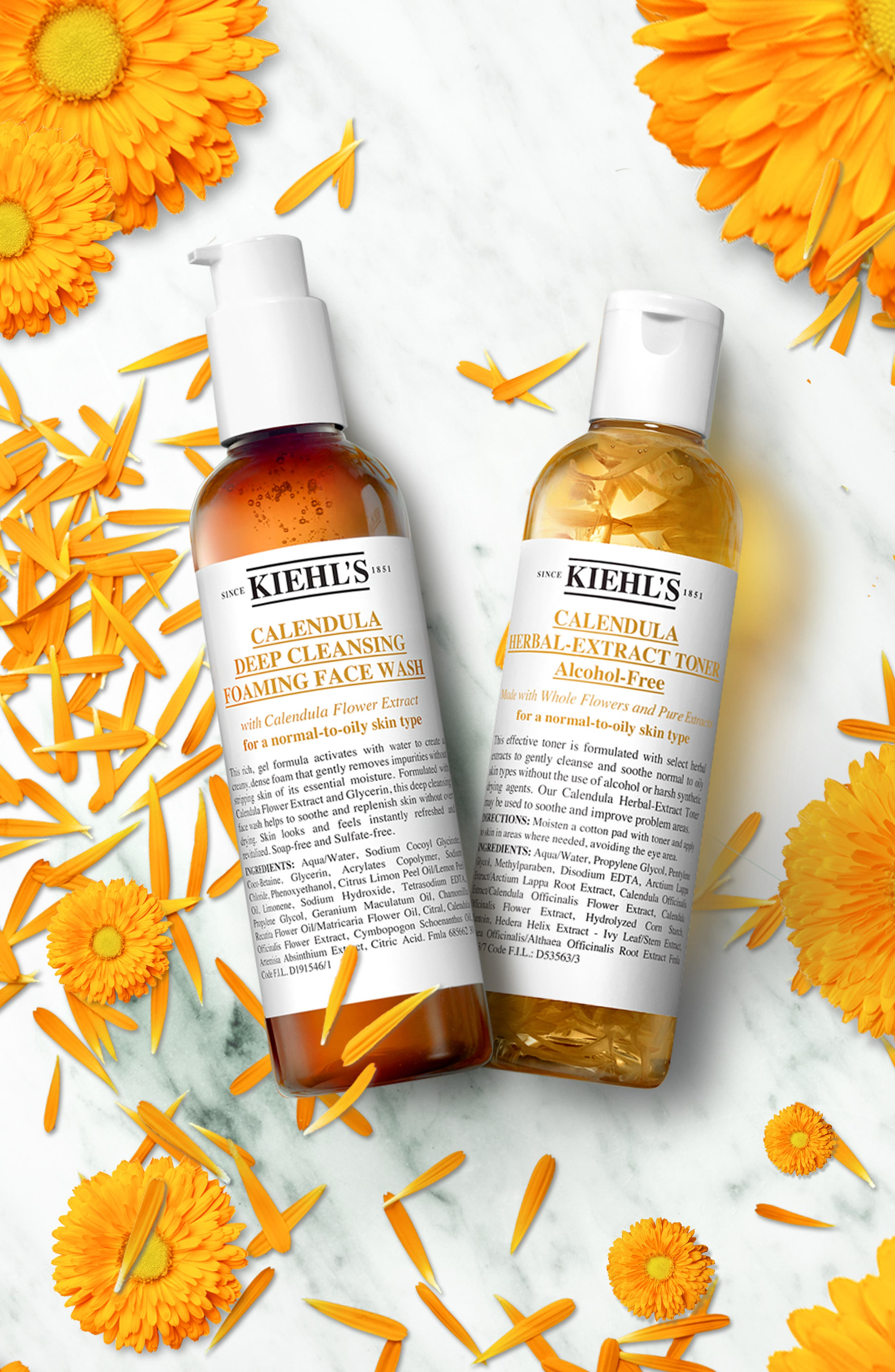 KIEHL'S SINCE 1851, Calendula Foaming Wash and Toner Duo, Alternate thumbnail 2, color, NO COLOR