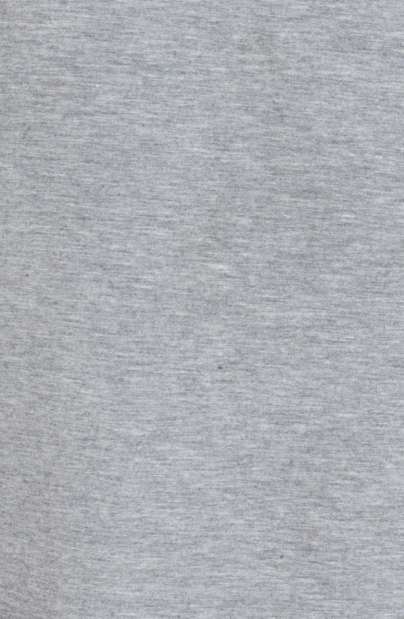 NORDSTROM LINGERIE, Breathe Sleep Shirt, Alternate thumbnail 5, color, GREY STEEL HEATHER