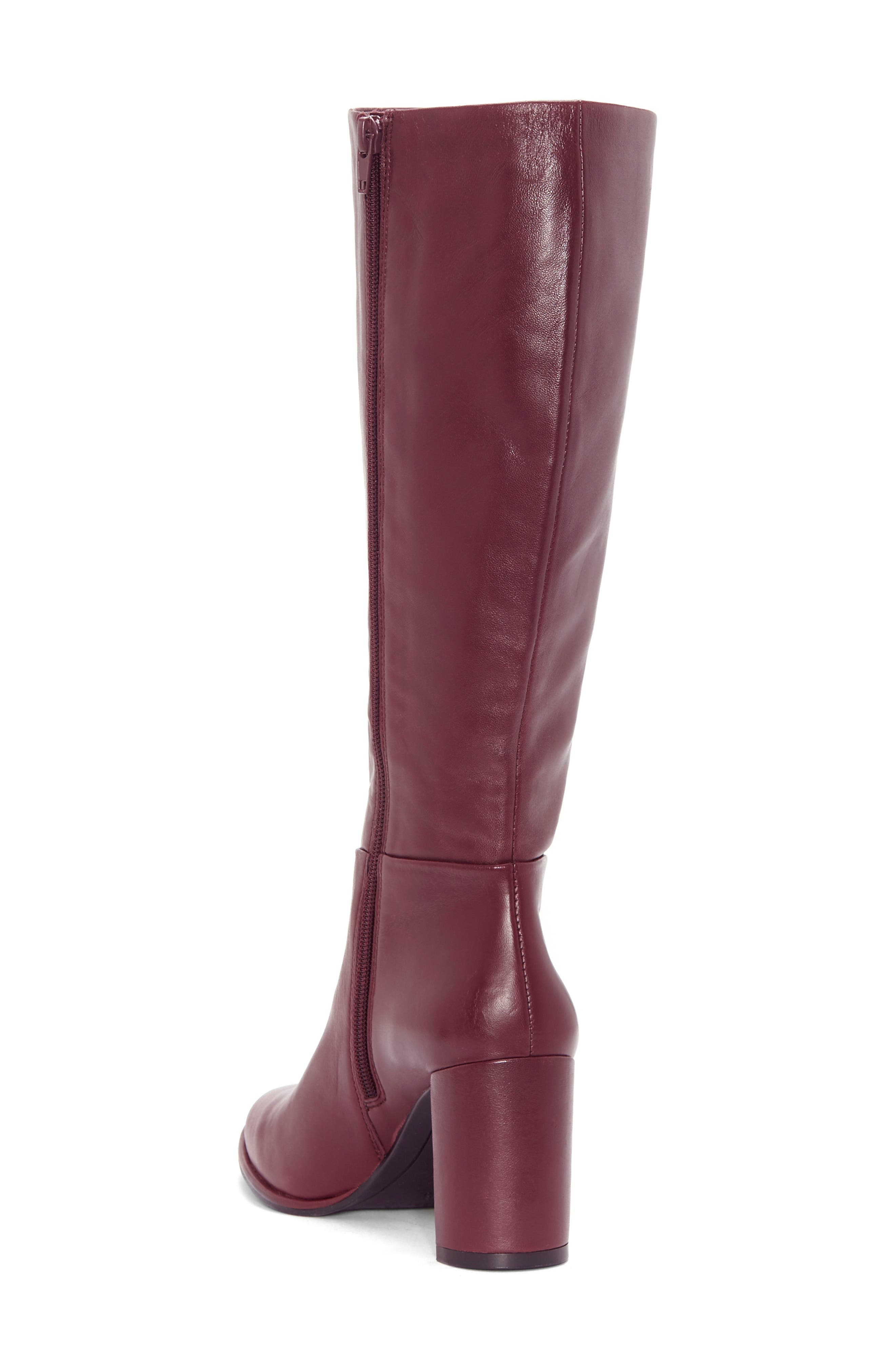 ENZO ANGIOLINI, Wenda Knee High Boot, Alternate thumbnail 2, color, MULLED WINE LEATHER