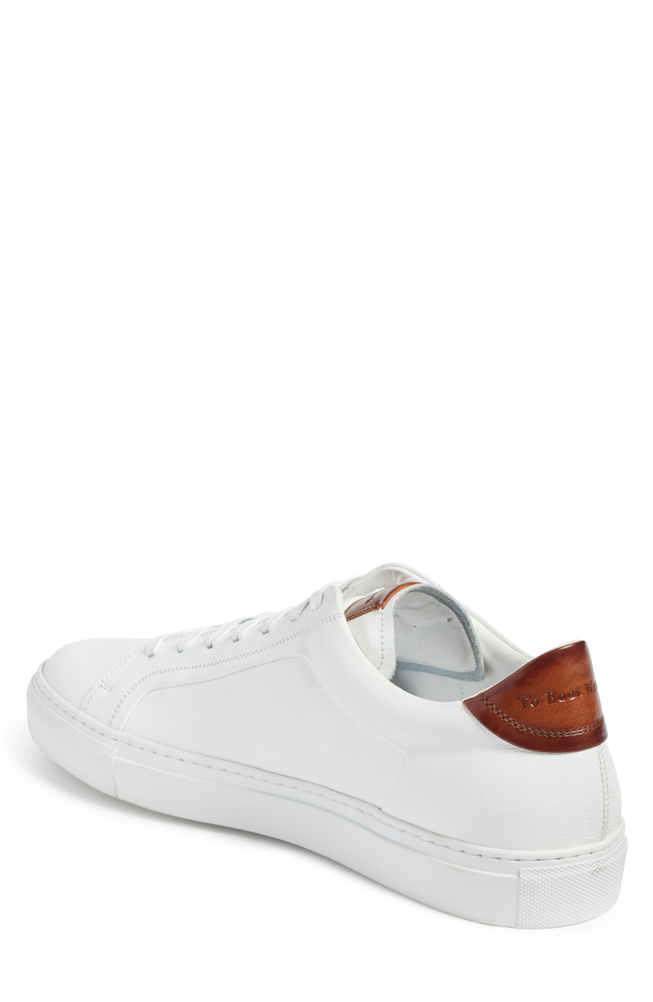 TO BOOT NEW YORK, Carlin Sneaker, Alternate thumbnail 2, color, WHITE/ TAN LEATHER