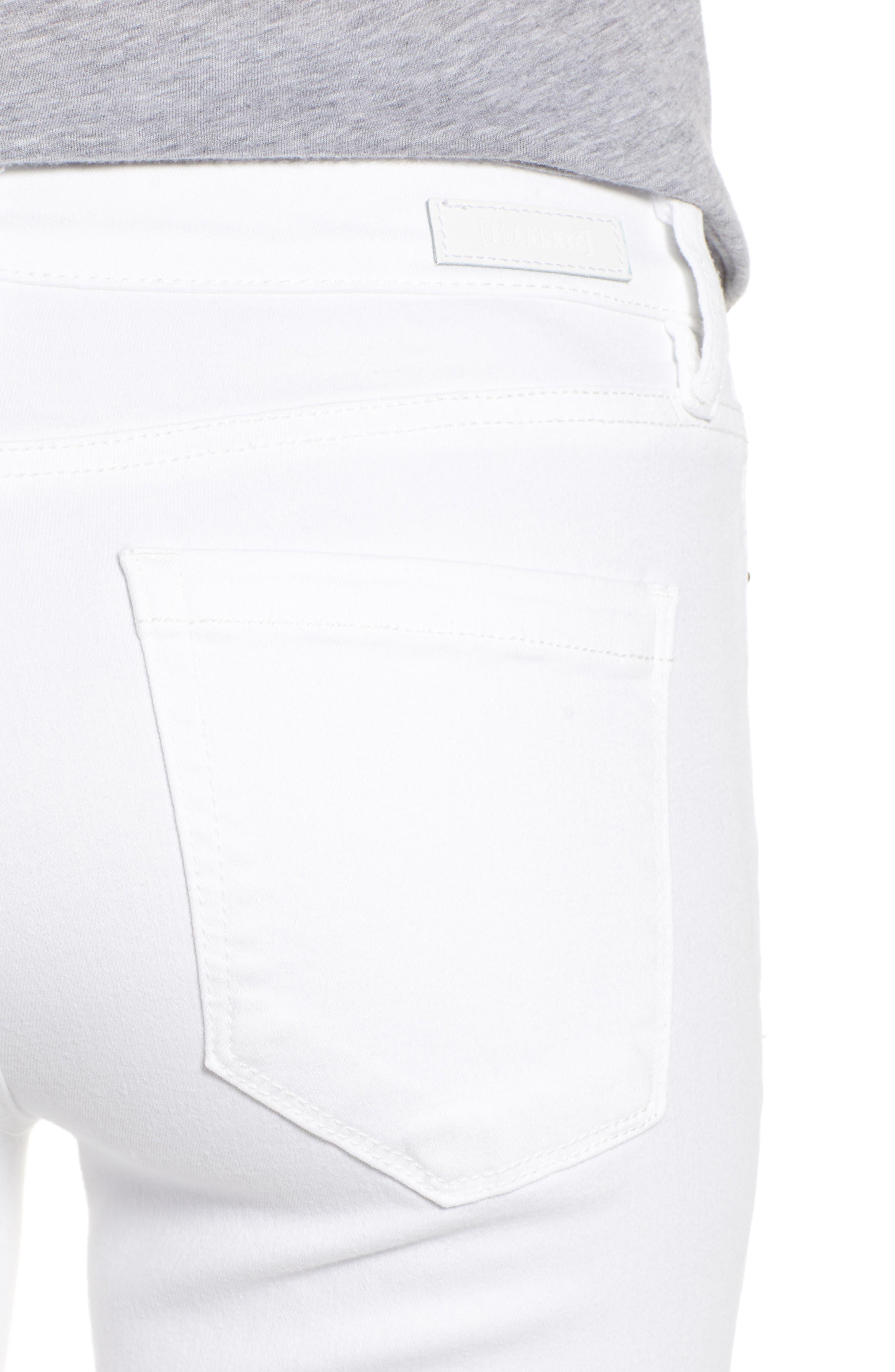BLANKNYC, Skinny Jeans, Alternate thumbnail 5, color, GREAT WHITE