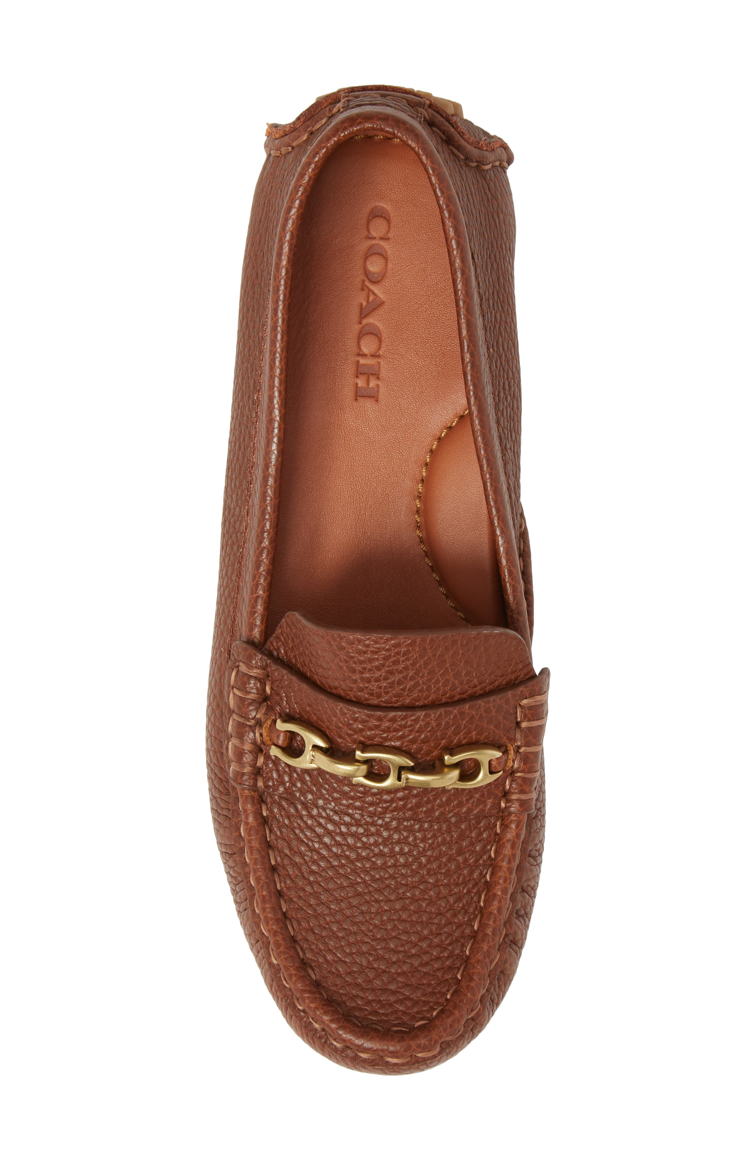 COACH, Crosby Driver Loafer, Alternate thumbnail 5, color, LION PEBBLED LEATHER